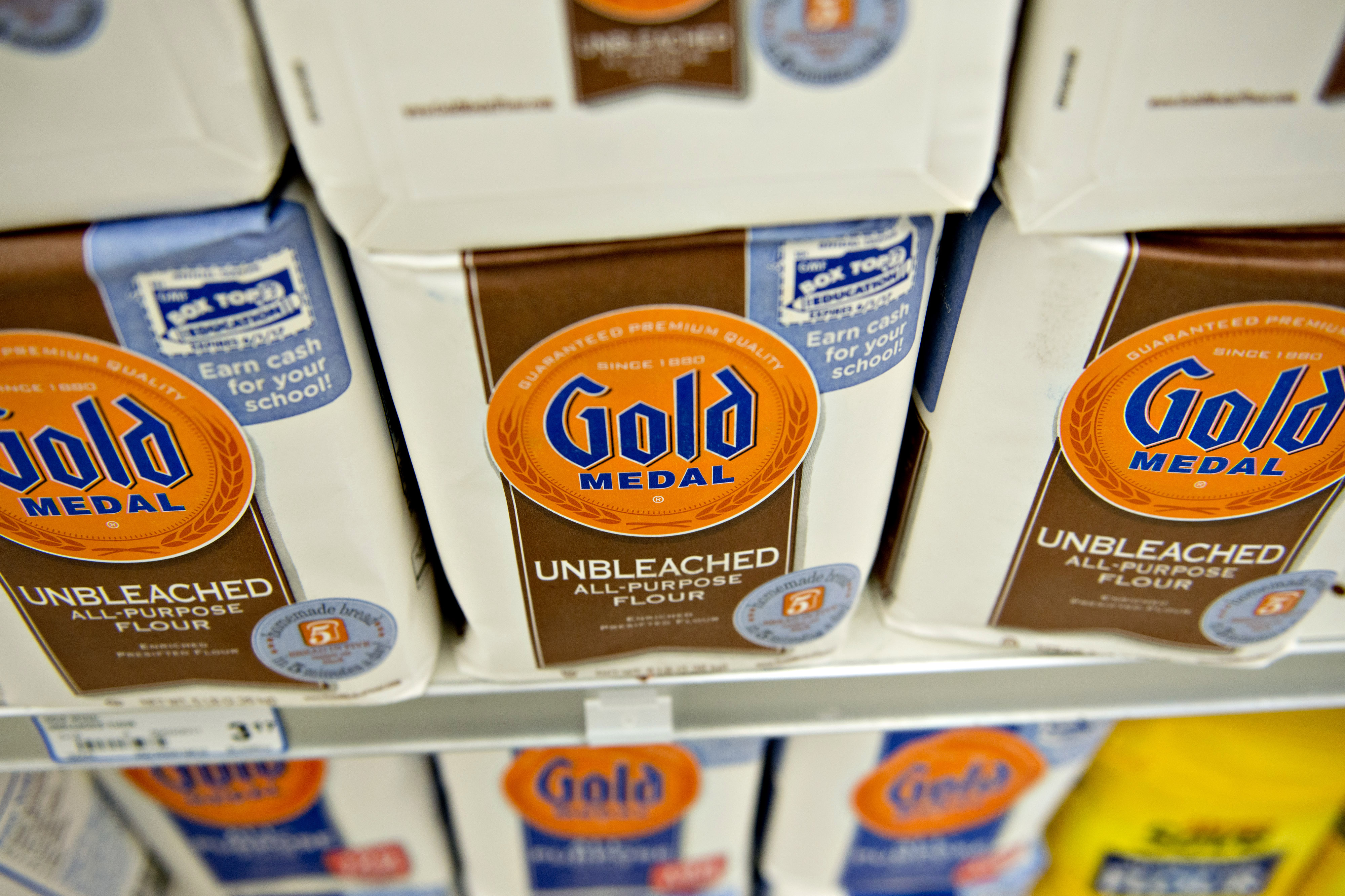 General Mills Inc. Gold Medal flour in Princeton, Ill. on Sept. 17, 2013.