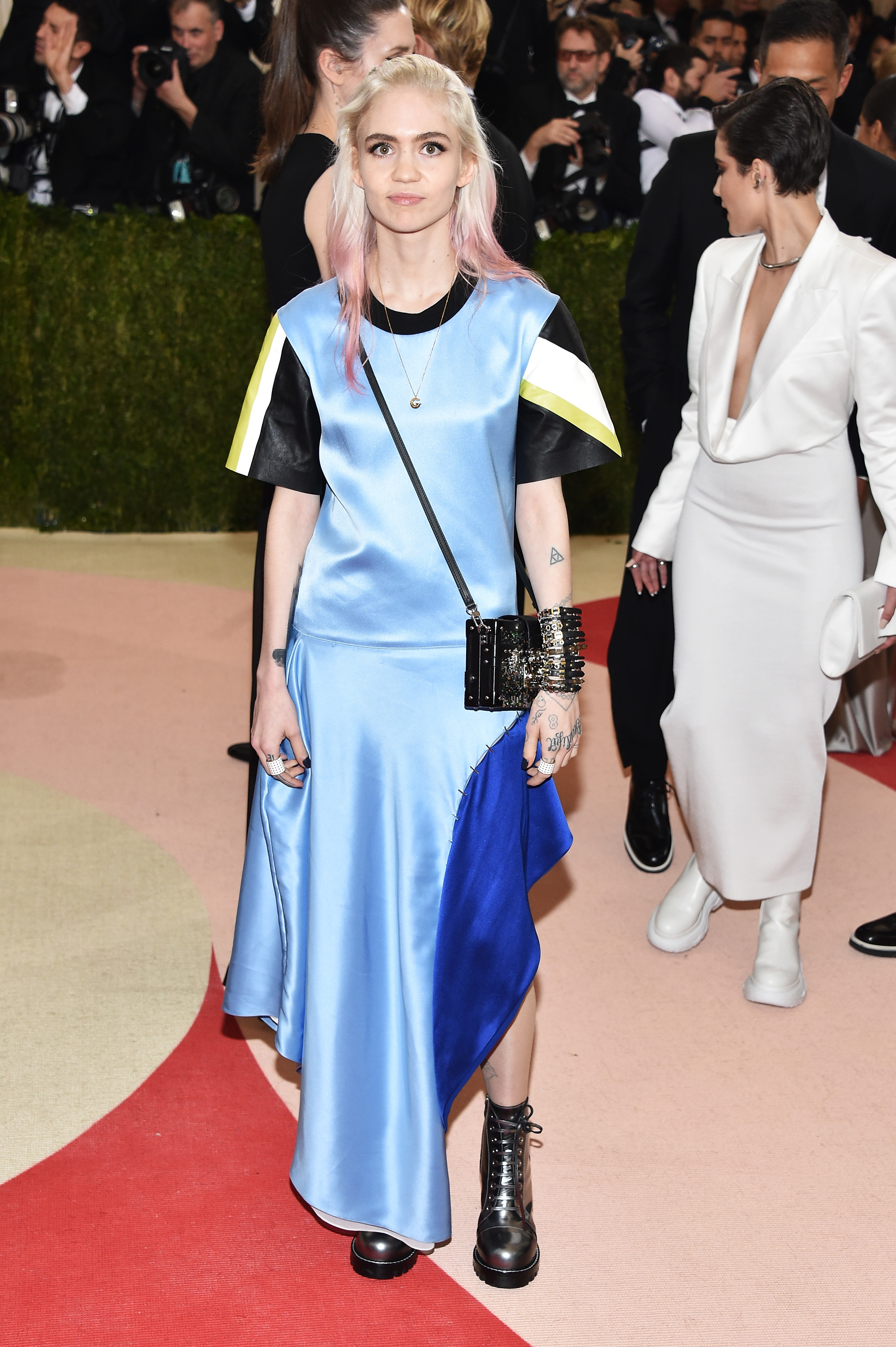 Grimes attends  Manus x Machina: Fashion In An Age Of Technology  Costume Institute Gala at Metropolitan Museum of Art on May 2, 2016 in New York City.