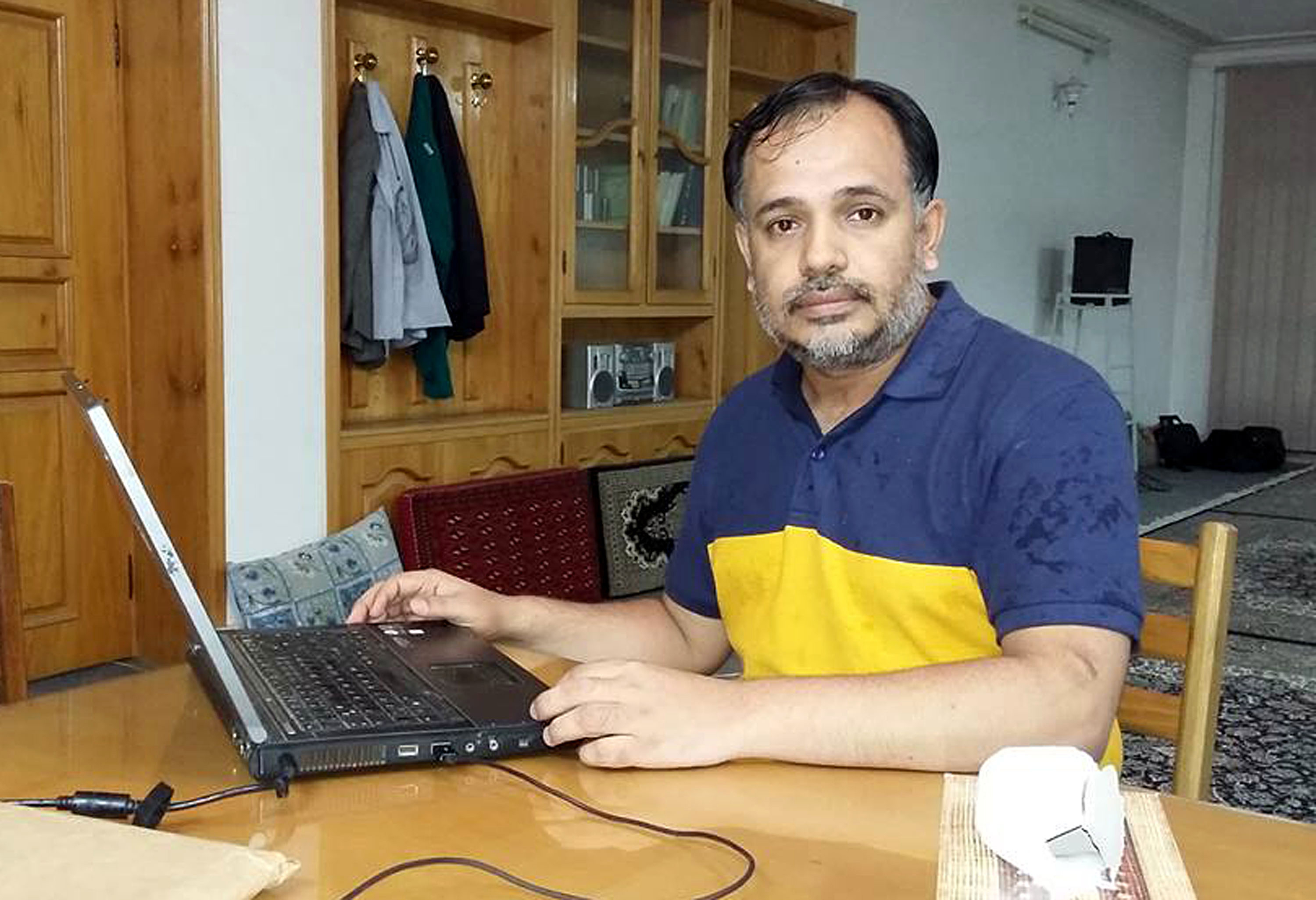 An undated handout picture released by Khurram Zaki's family shows him in Pakistan. Zaki, an active campaigner against radical Muslim clerics, was killed by unknown gunmen in Karachi on May 7, 2016