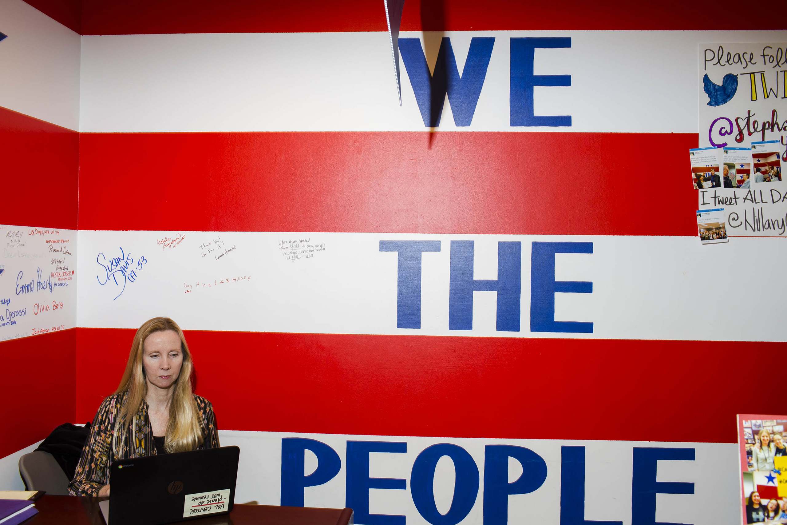 At the campaign headquarters of Hillary Clinton on May 24, 2016, in Brooklyn, NY.