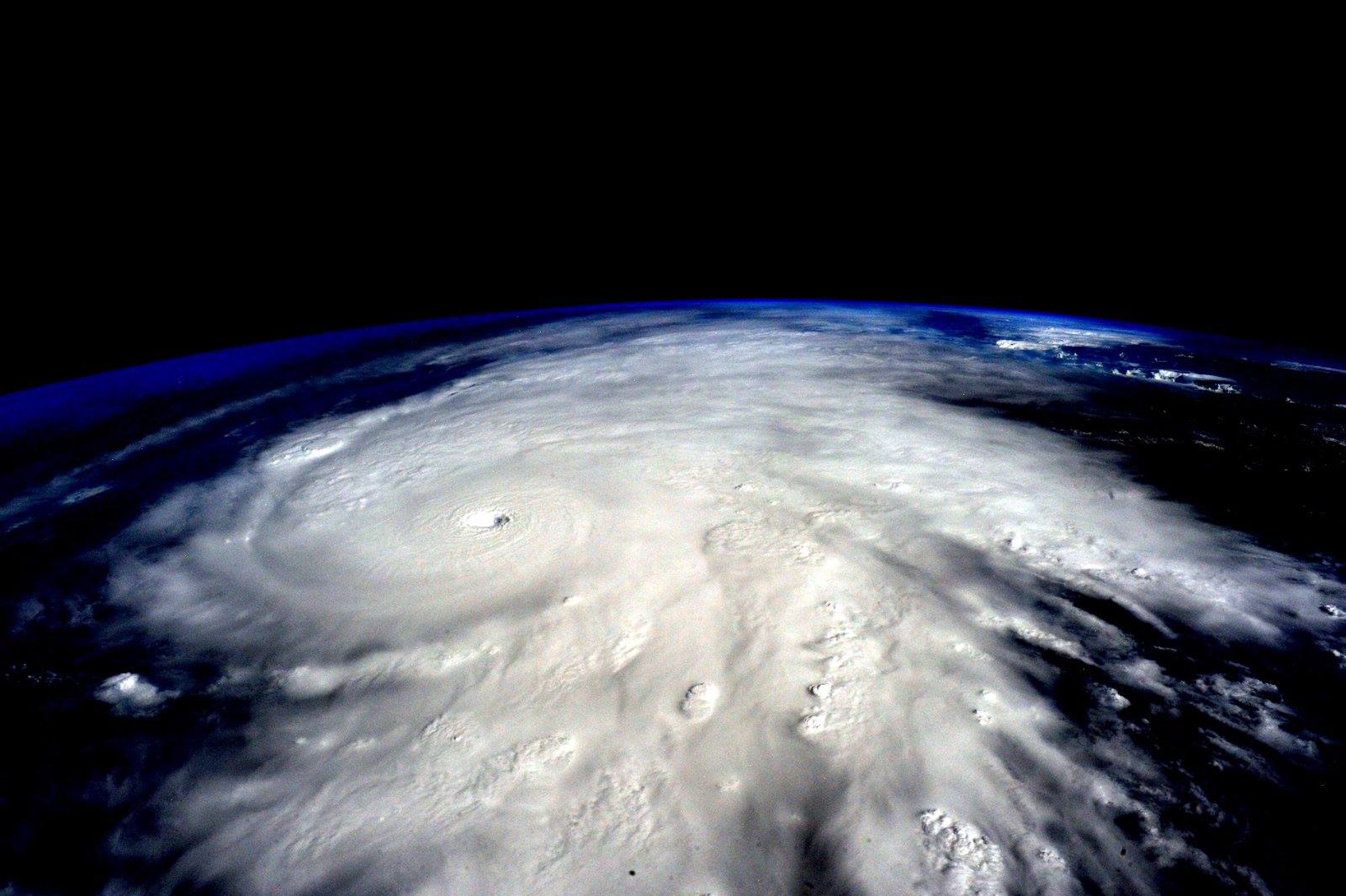 Hurricane Patricia is seen from the International Space Station. The hurricane made landfall on the Pacfic coast of Mexico on Oct. 23, 2015.