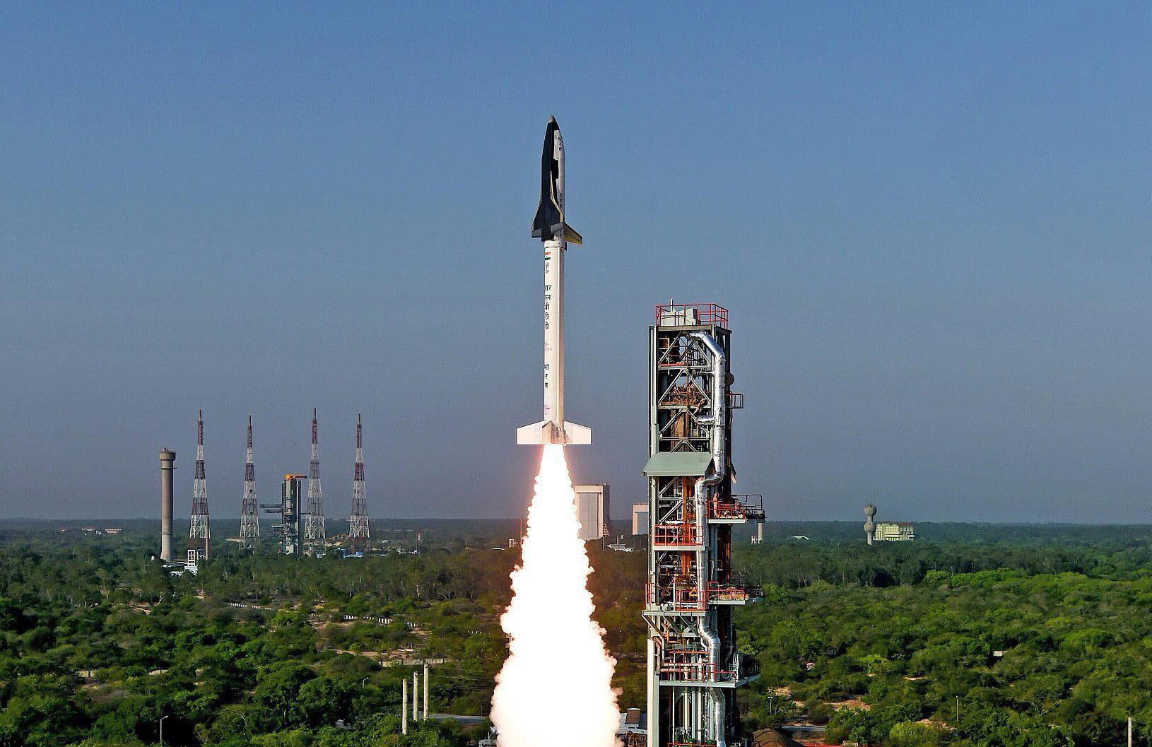 India's Reusable Launch Vehicle (RLV)-TD taking off from Sriharikota, Andhra Pradesh, May 23, 2016.