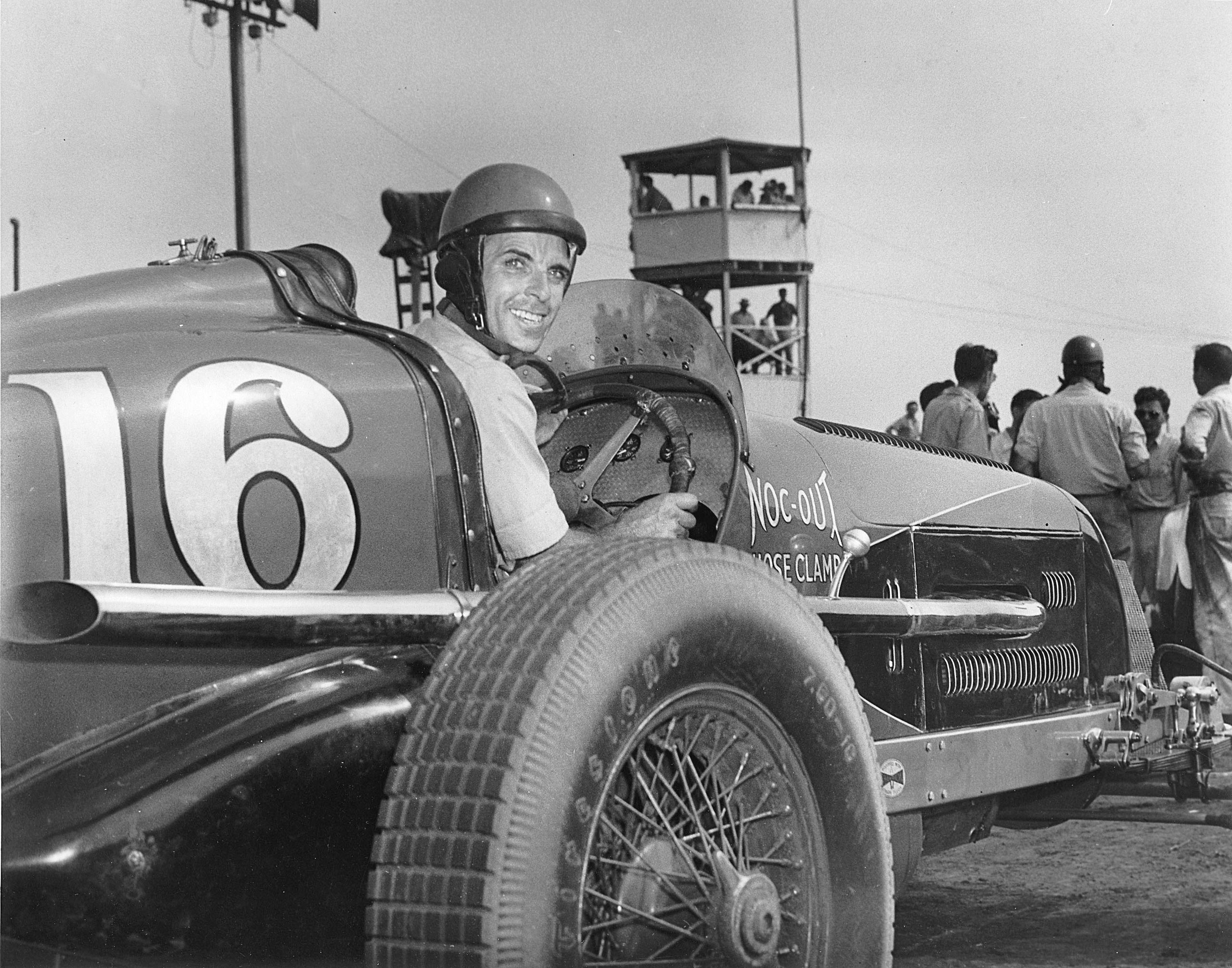 1946: George Robson drove Joel Thorne's Noc-Out Hose Clamp Special to victory in the Indianapolis 500 AAA Indy Car race at the Indianapolis Motor Speedway.