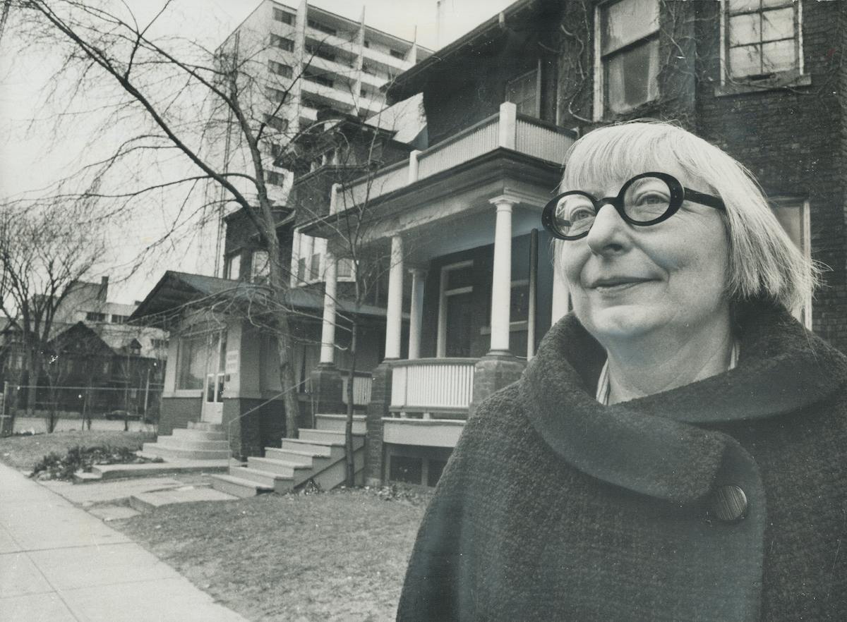 Jane Jacobs in Toronto in 1968