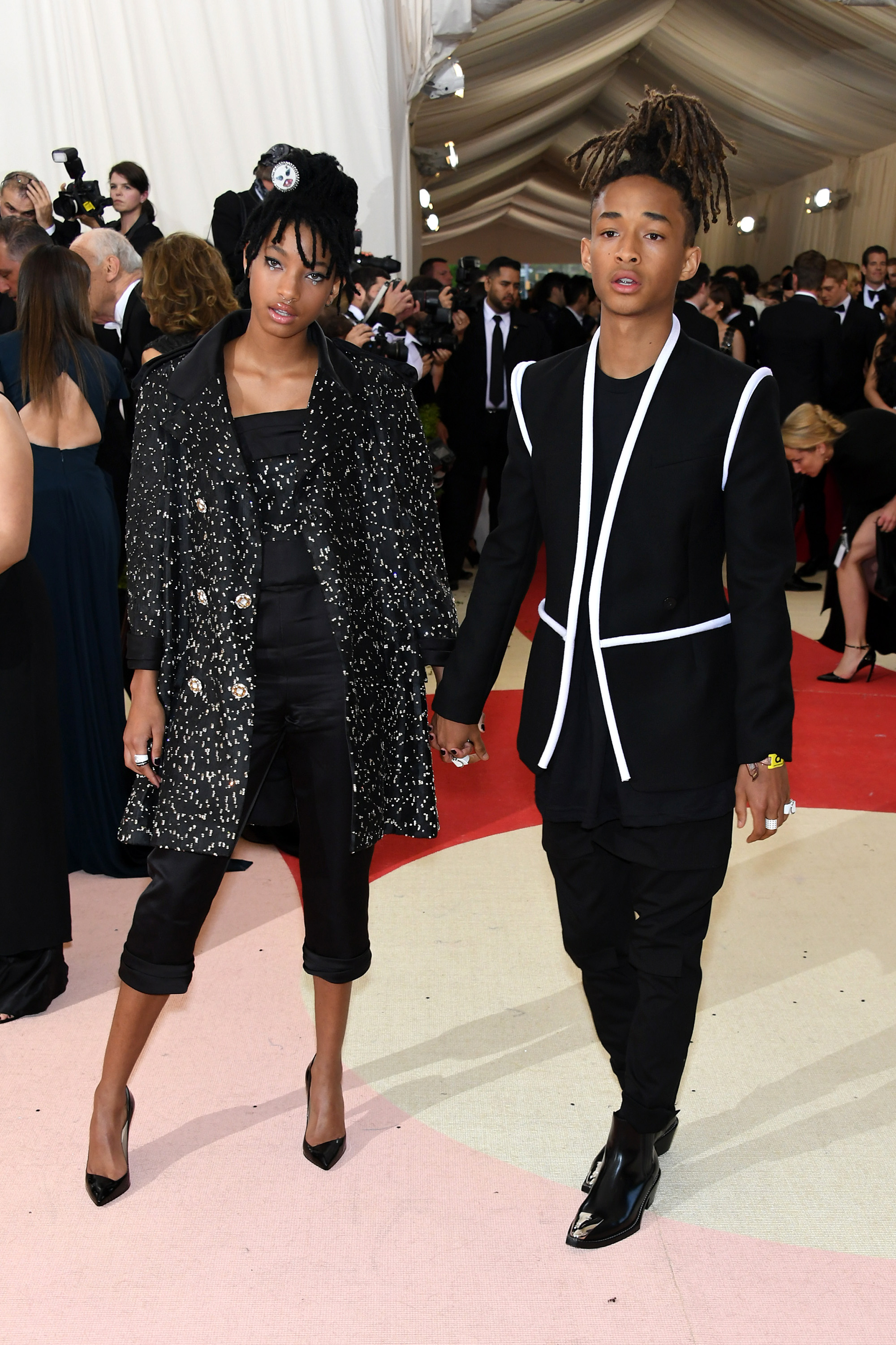 Willow and Jaden Smith attend  Manus x Machina: Fashion In An Age Of Technology  Costume Institute Gala at Metropolitan Museum of Art on May 2, 2016 in New York City.