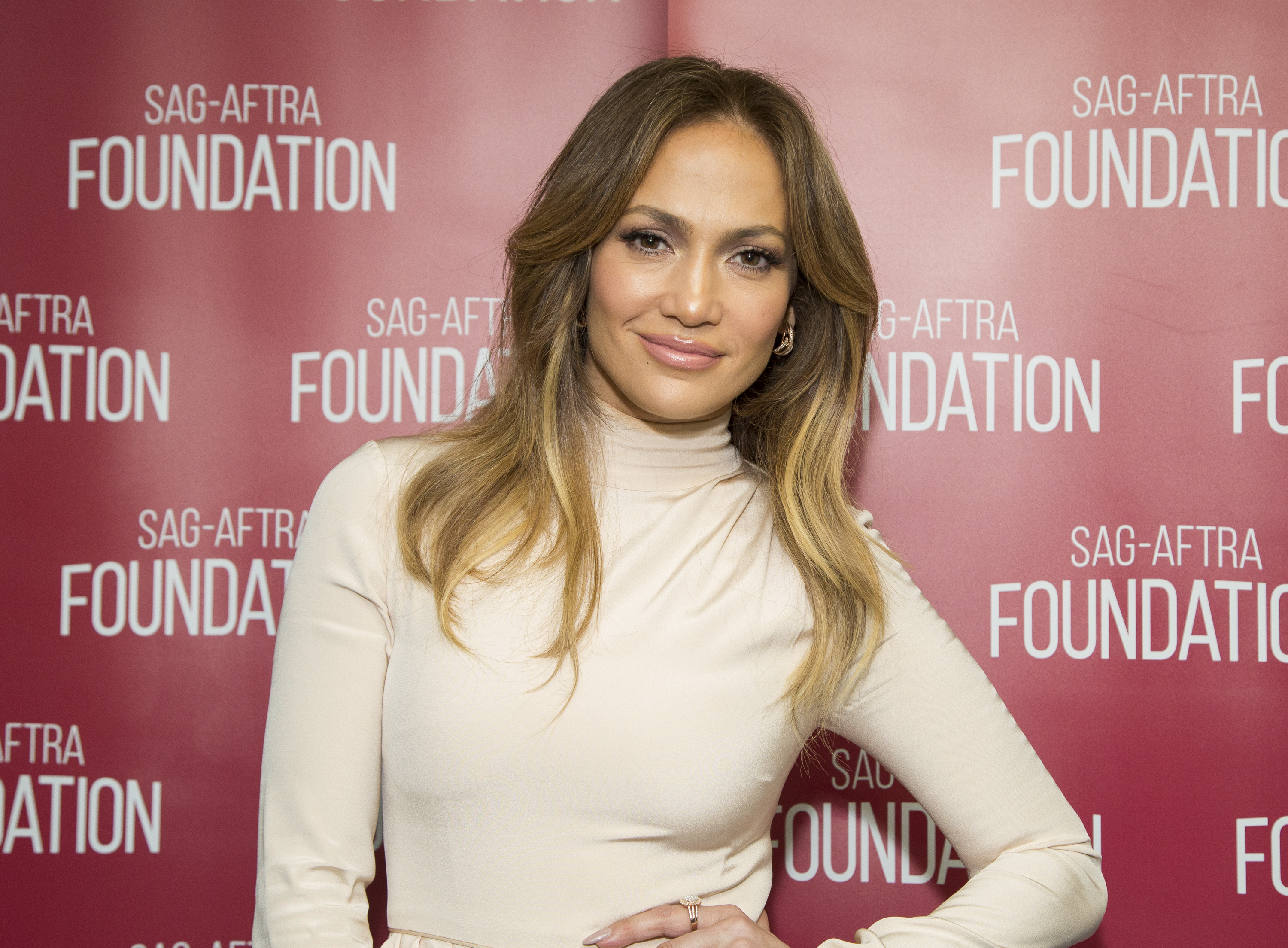 Actress Jennifer Lopez attends SAG-AFTRA Foundation Conversations with Jennifer Lopez for  Shades Of Blue  at SAG-AFTRA Foundation on April 21, 2016 in Los Angeles, California.