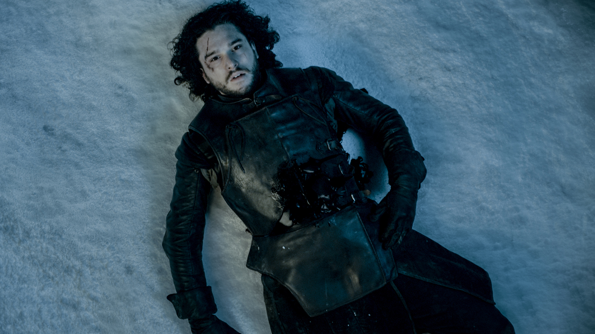 A still image of Kit Harington as Jon Snow on Game of Thrones.