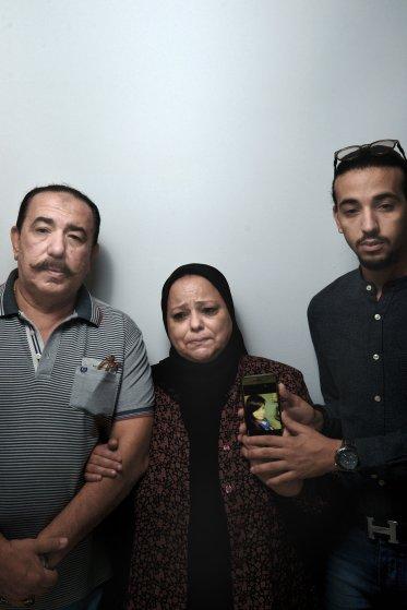 Ezz-Eldin Safwat, Amal Mohsen and Safwat Ezz-Eldin Safwat, the parents and brother of flight attendant Samar Ezz-Eldin