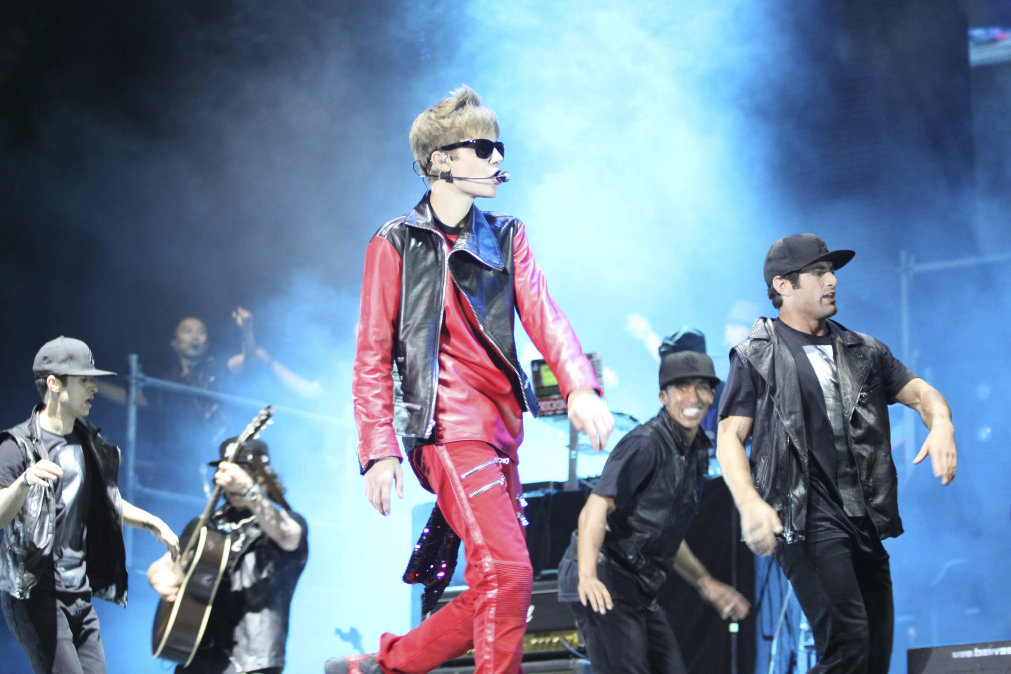 A young Justin Bieber performs on  in Buenos Aires, Argentina, Oct. 12, 2011.