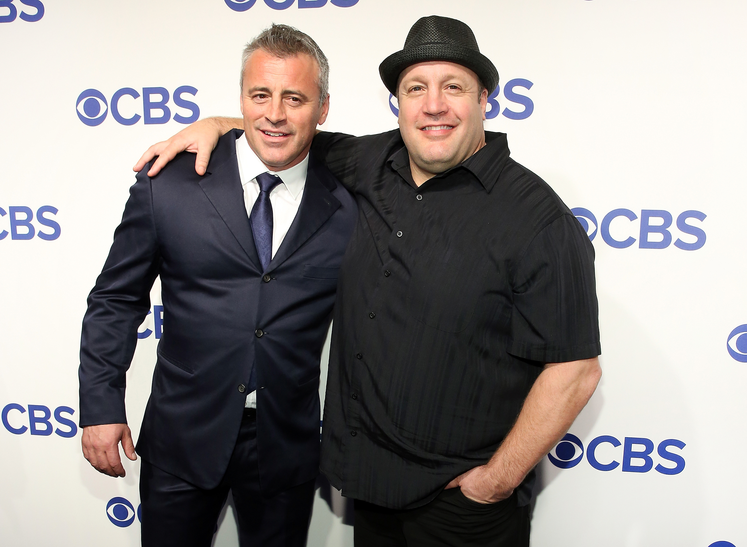 Matt LeBlanc and Kevin James attend the 2016 CBS Upfront at Oak Room in New York City on May 18, 2016.