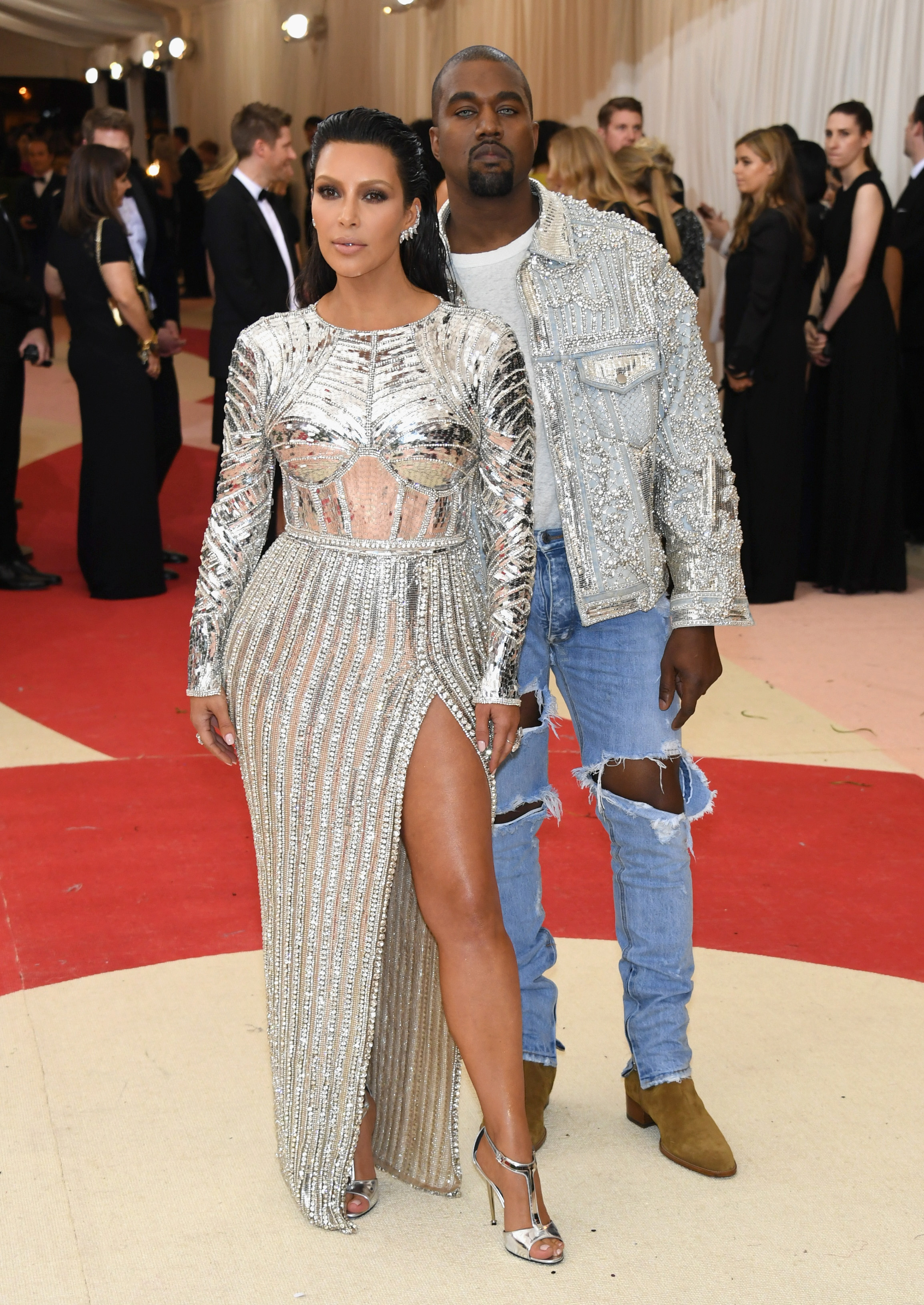 Kim Kardashian and Kanye West attend  Manus x Machina: Fashion In An Age Of Technology  Costume Institute Gala at Metropolitan Museum of Art on May 2, 2016 in New York City.