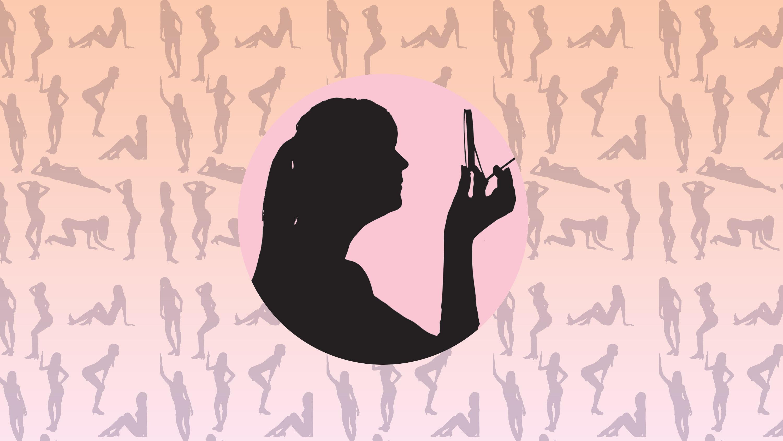 Women nude on swing
