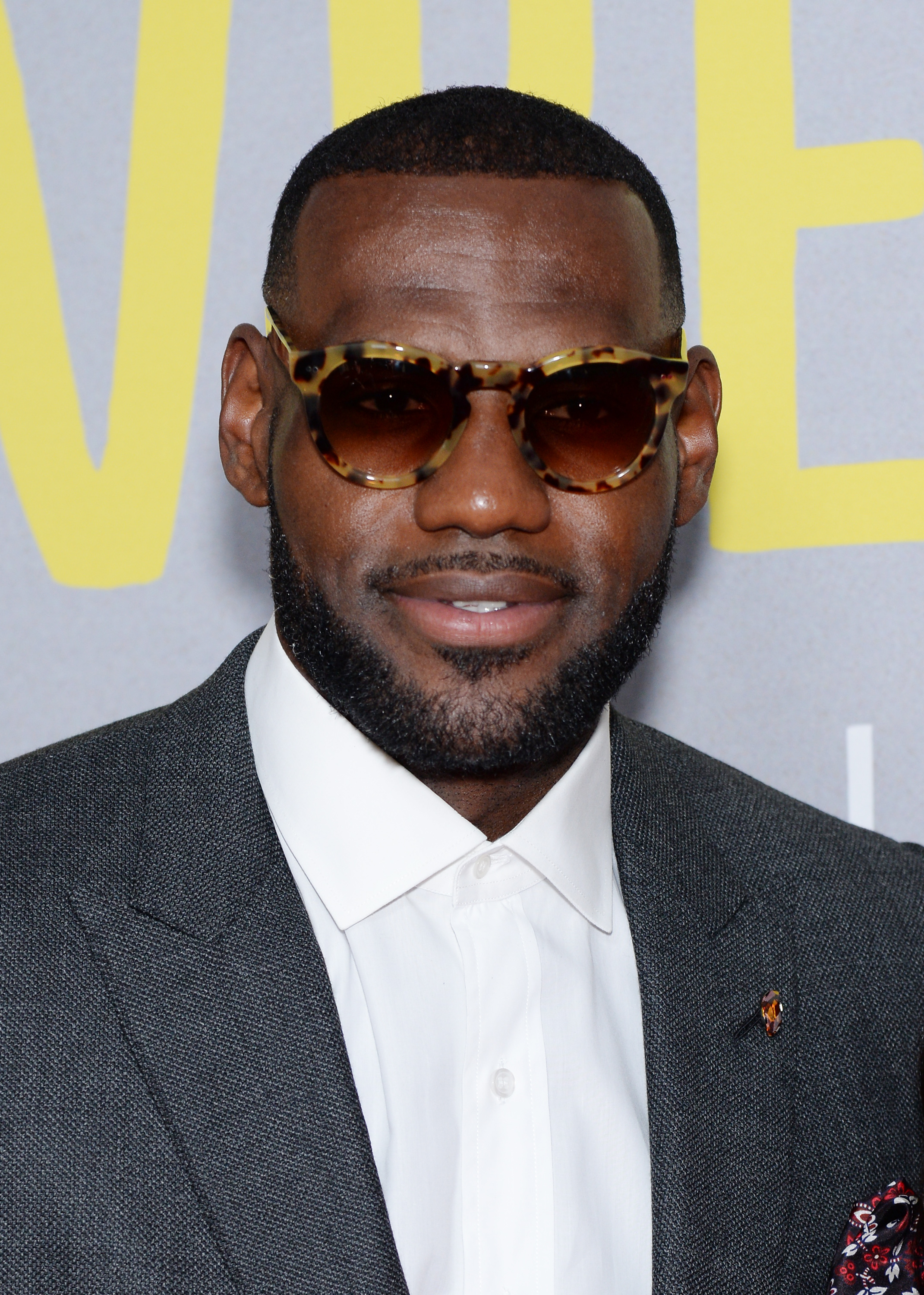 LeBron James attends the 'Trainwreck' premiere on July 14, 2015 in New York City.