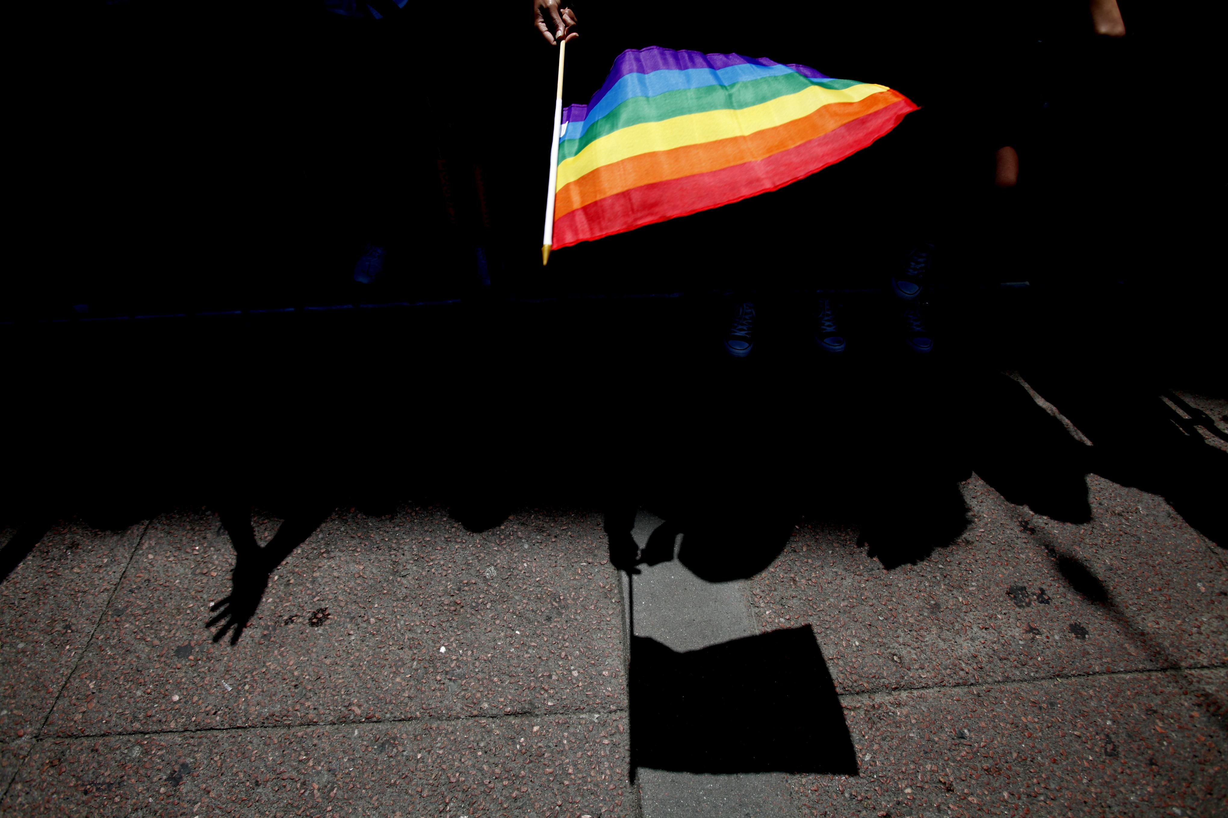 A flag during a LGBT Pride Celebration, on June 30, 2013.