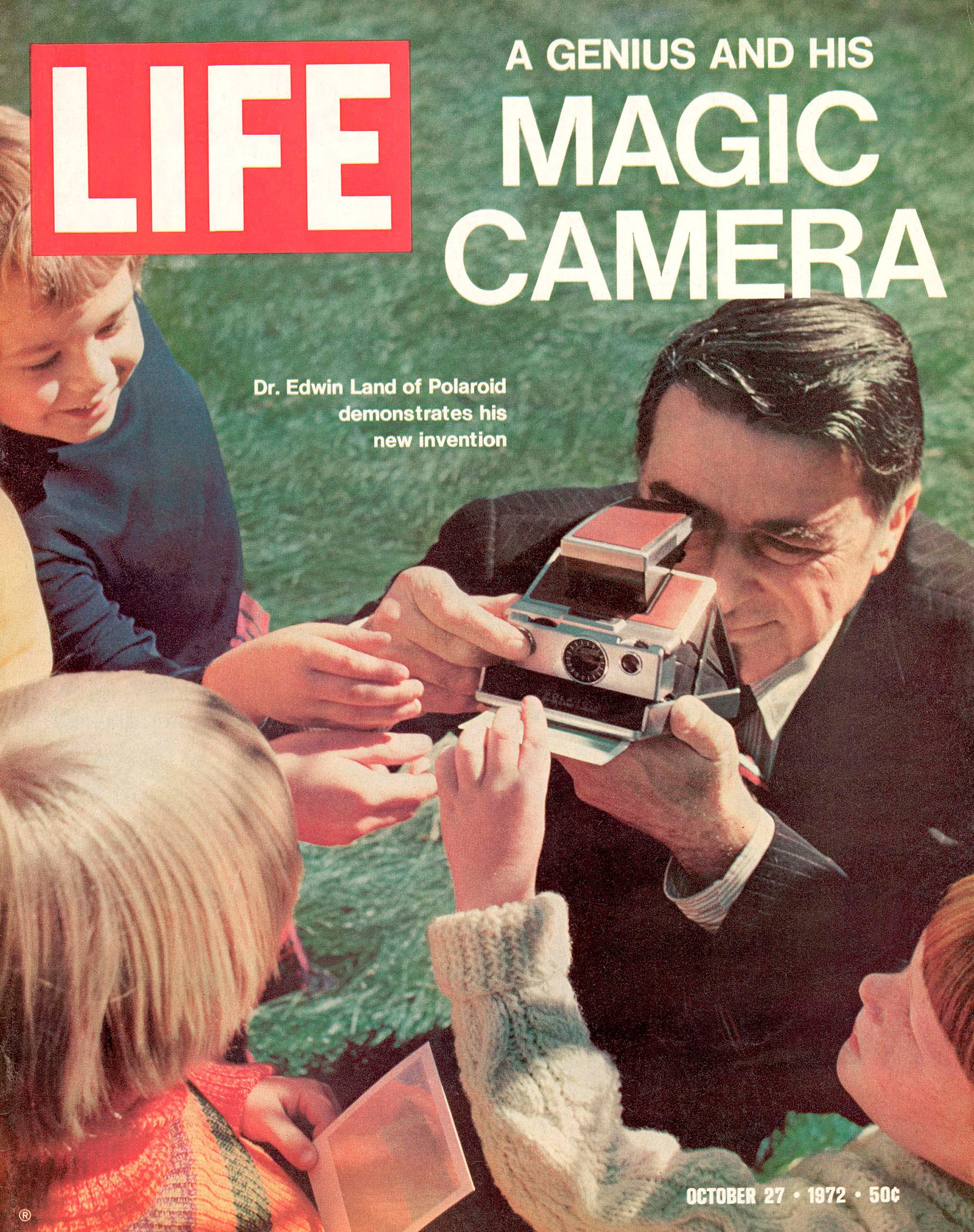 Edwin Land of Polaroid on the cover of LIFE magazine, October 27, 1972.October 27, 1972 cover of LIFE magazine.