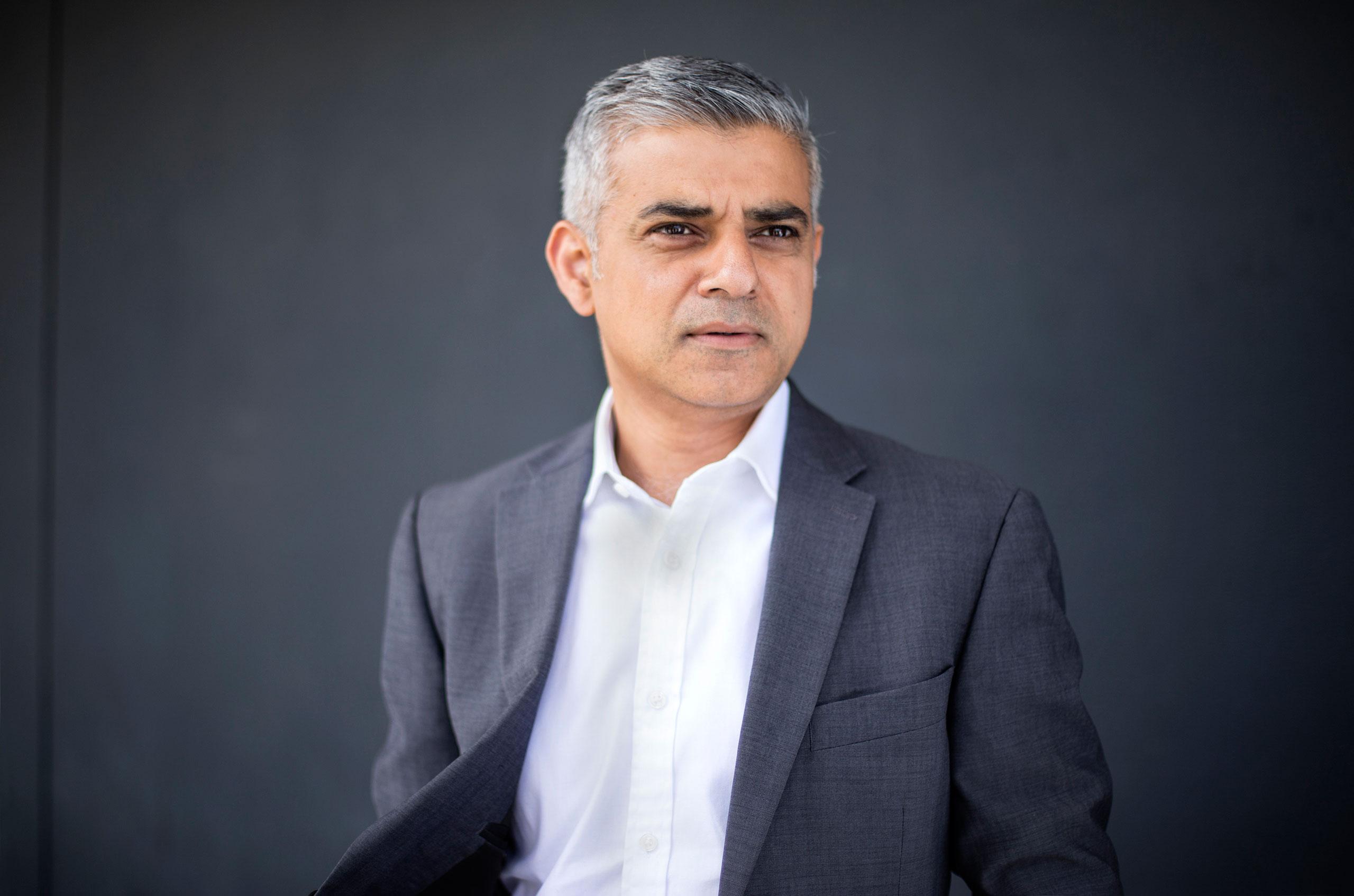 Sadiq Khan, London's newly elected mayor, London, United Kingdom, May 8, 2016.
