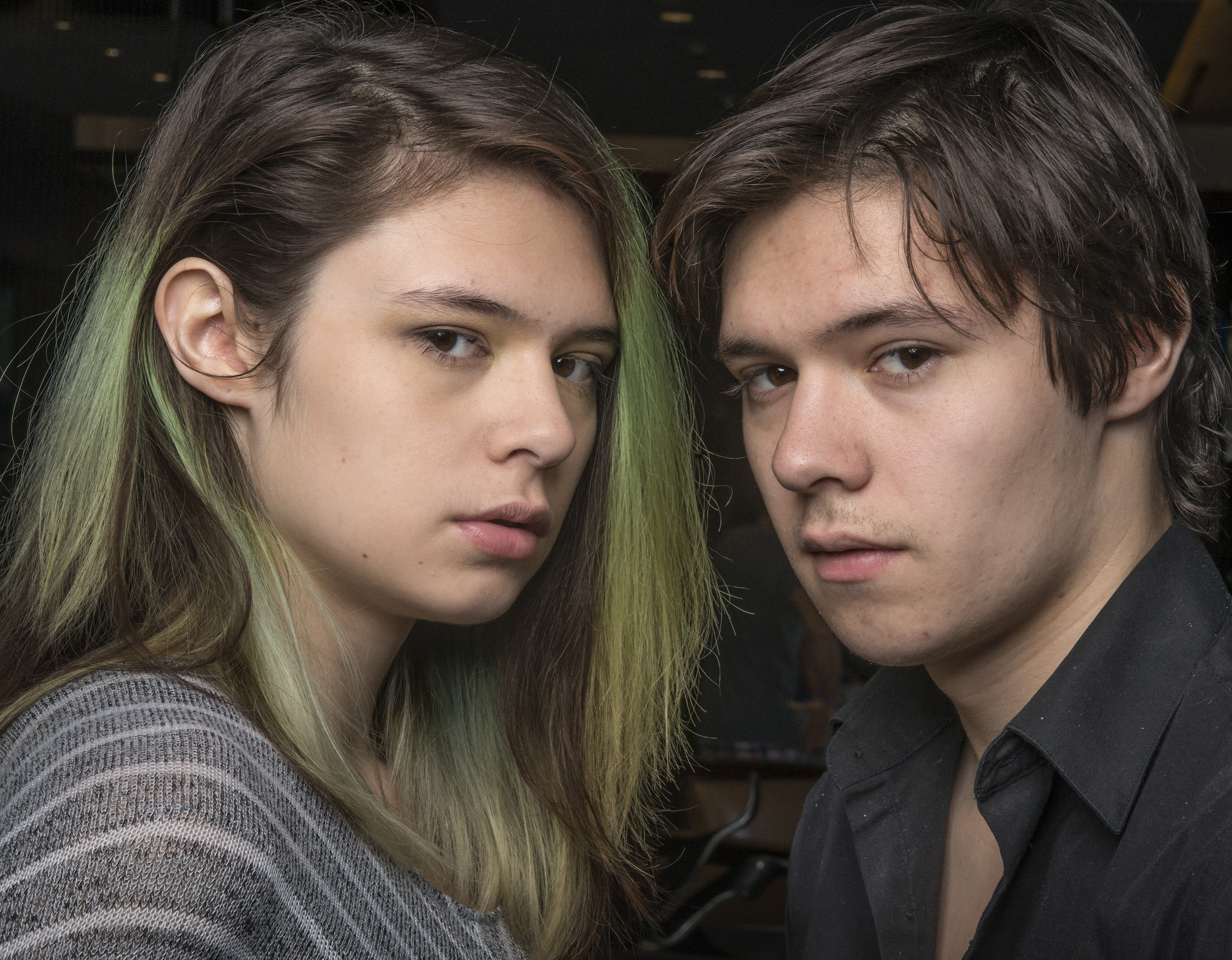 Jonas, right, and Nicole Maines, both 18, in Denver, CO, on Oct. 10, 2015.