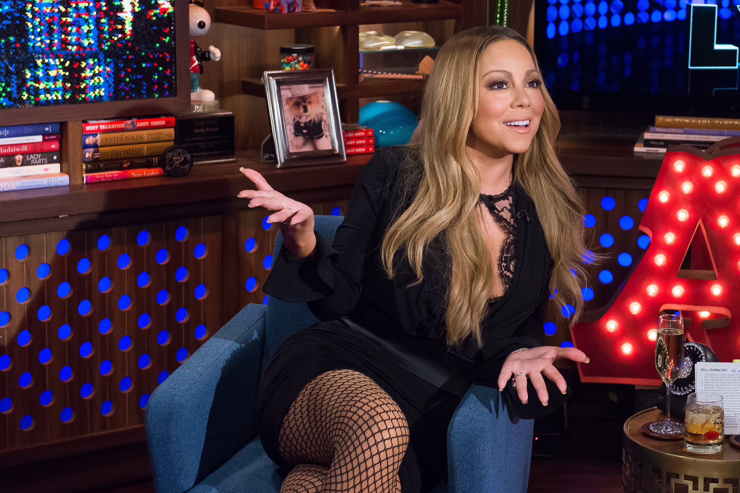 WATCH WHAT HAPPENS LIVE -- Pictured: Mariah Carey