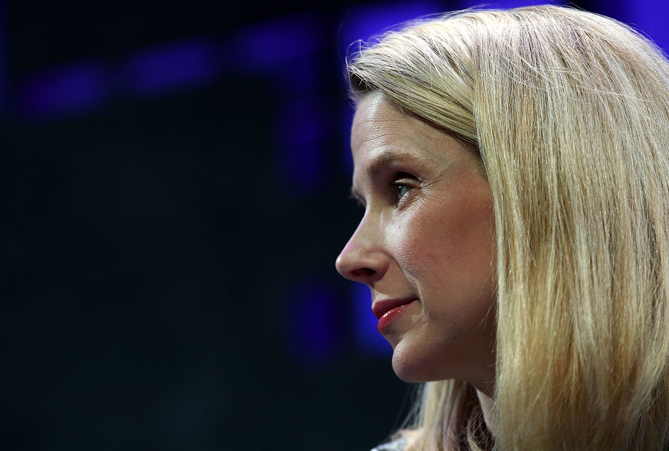 Yahoo president and CEO Marissa Mayer speaks during the Fortune Global Forum in San Francisco on Nov. 3, 2015.