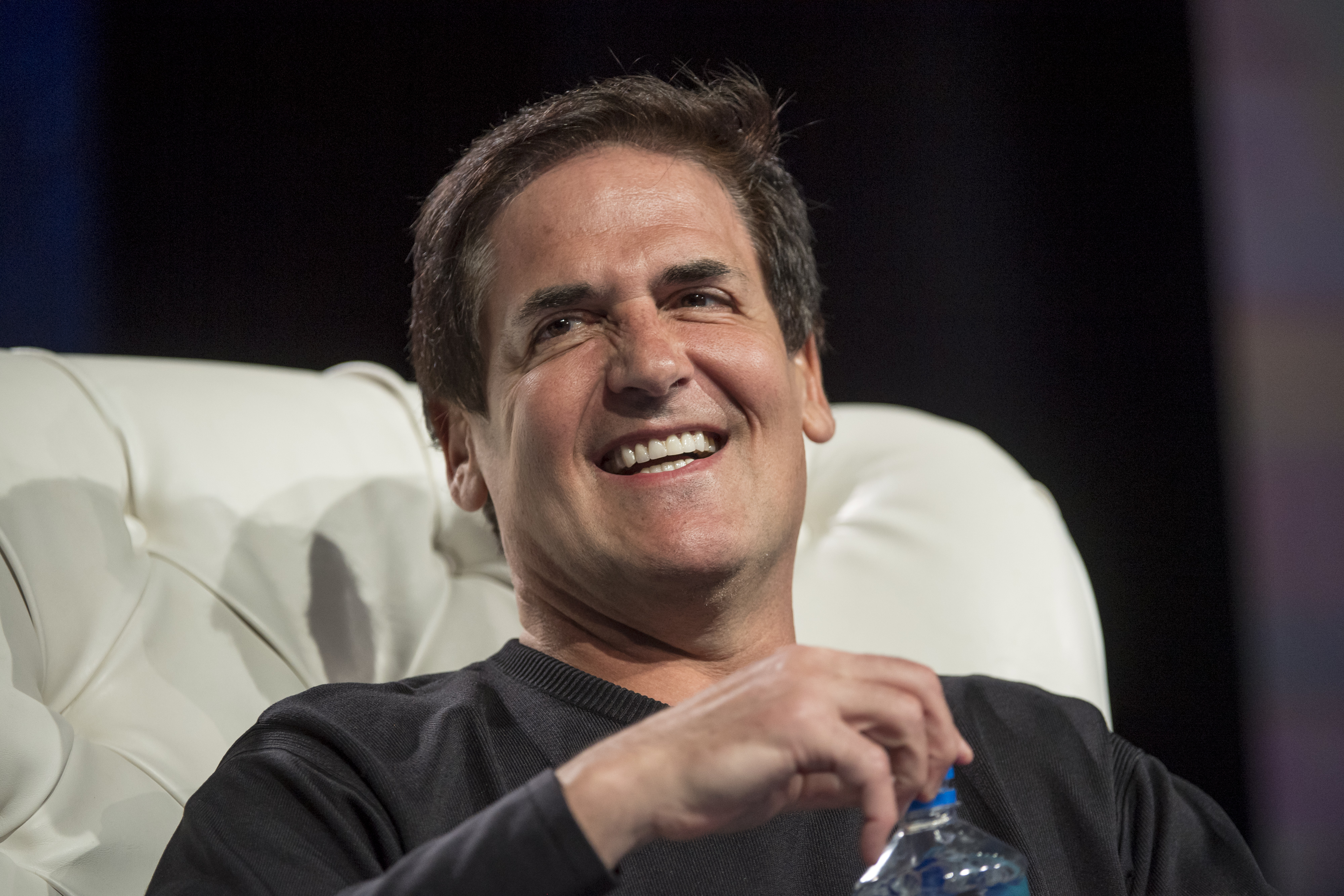 Mark Cuban, billionaire owner of the National Basketball Association (NBA) Dallas Mavericks basketball team, speaks during the Skybridge Alternatives (SALT) conference in Las Vegas, Nevada, on May 12.