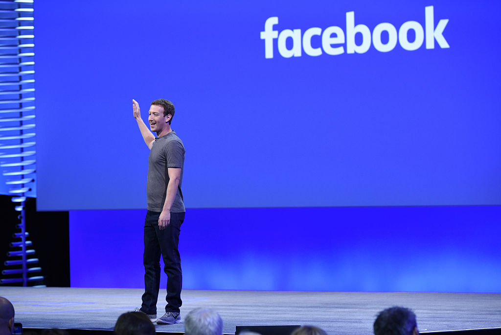 Mark Zuckerberg speaks during the Facebook F8 Developers Conference in San Francisco on April 12, 2016.