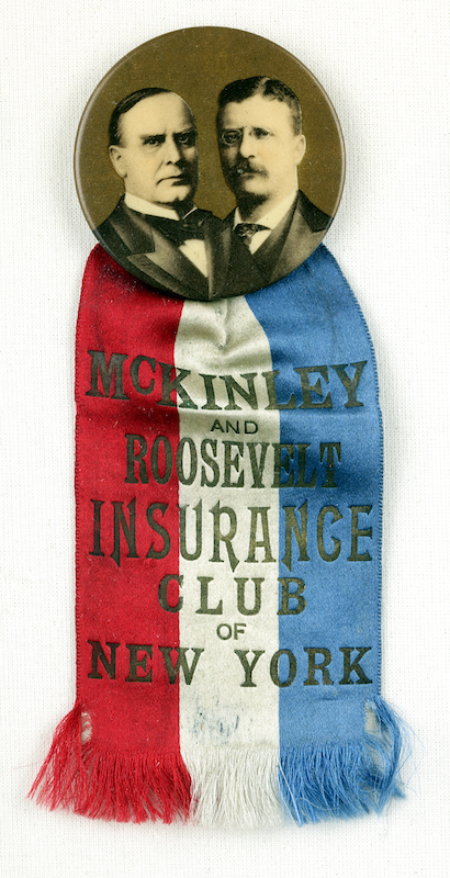 Red, white, and blue striped ribbon, 1896.