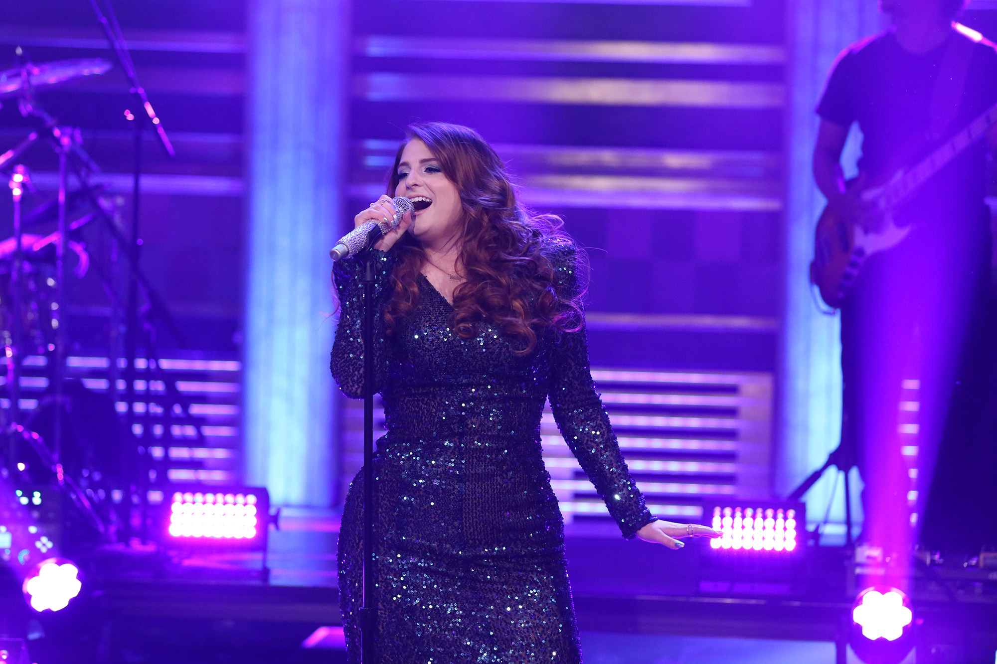 Musical guest Meghan Trainor performs on 'The Tonight Show' May 12, 2016.