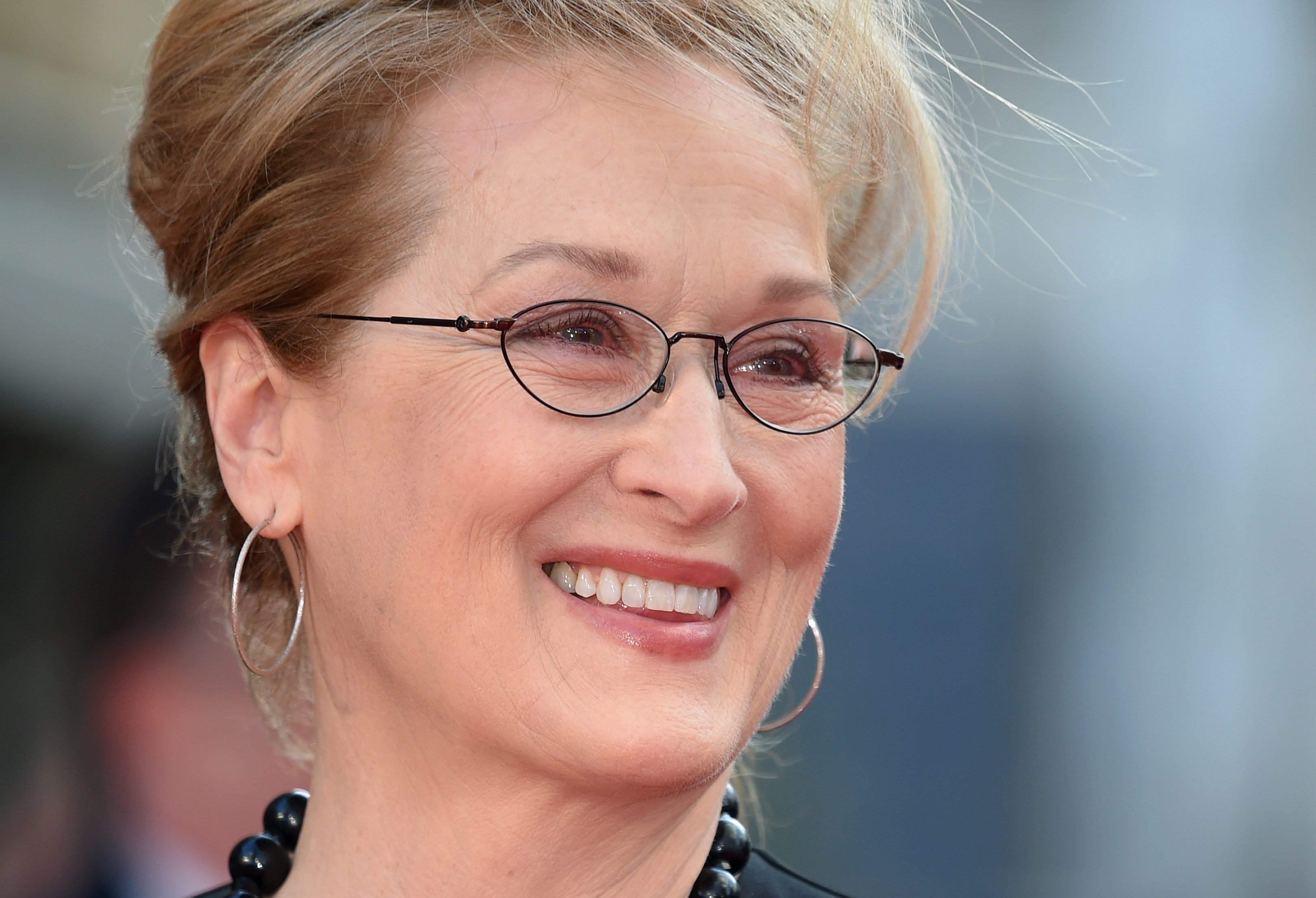 Meryl Streep arrives for the UK film premiere of  Florence Foster Jenkins  at Odeon Leicester Square on April 12, 2016 in London, England.
