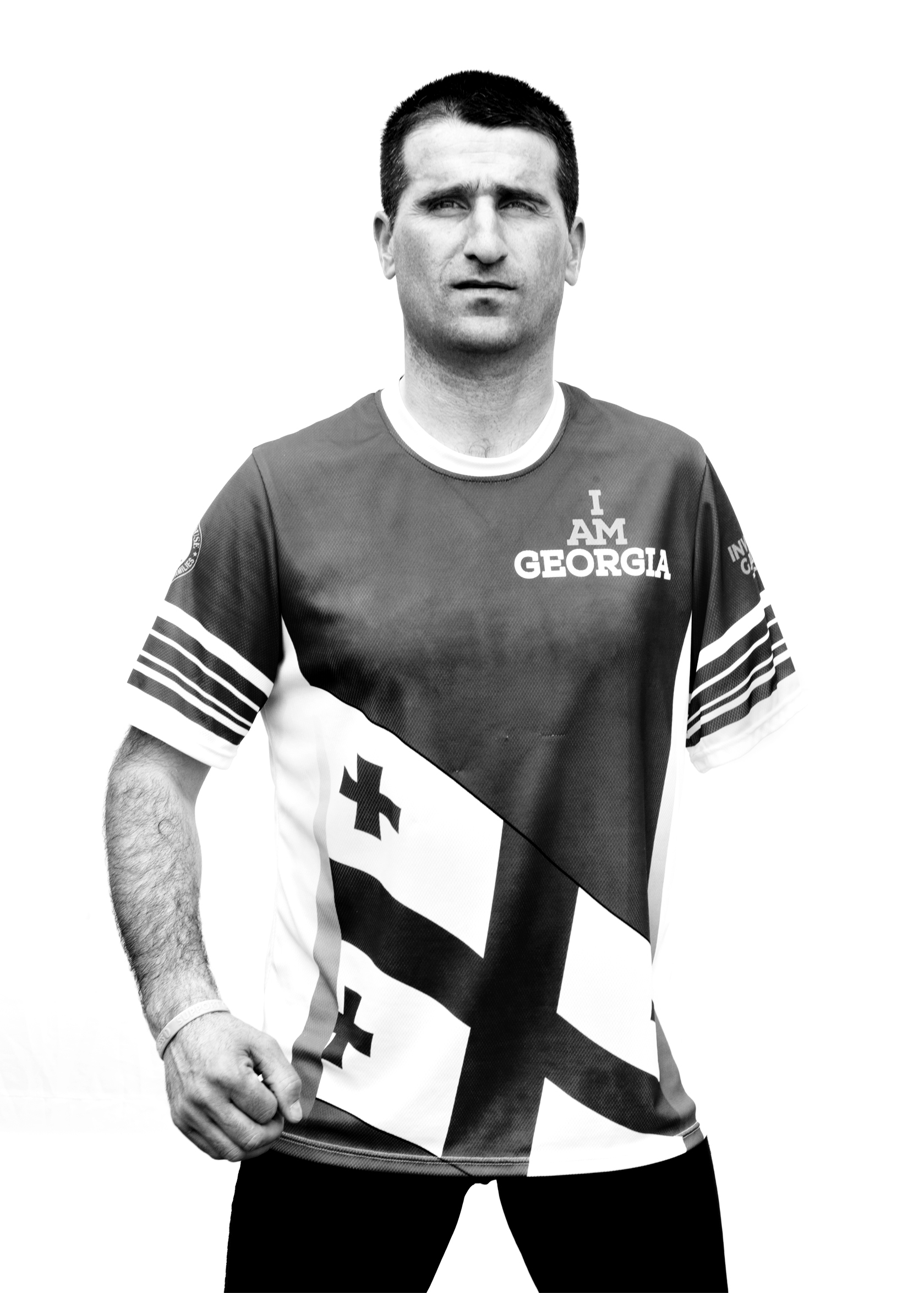 Otar Doijashvili, Georgia, competed in sitting volleyball and rowing