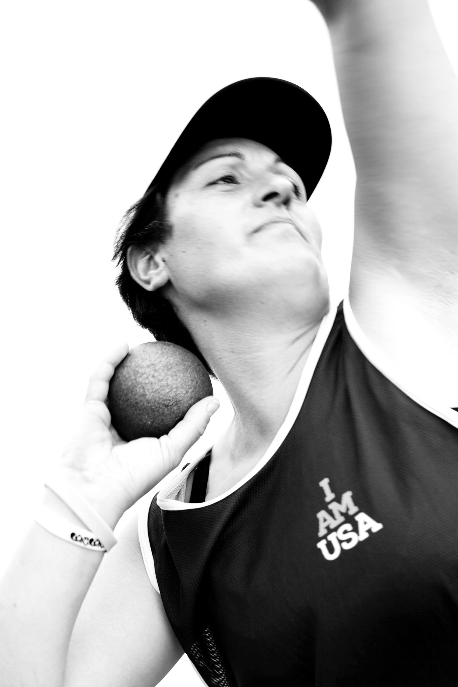 Pellegrina Caputo, Italy, competed in shot put
