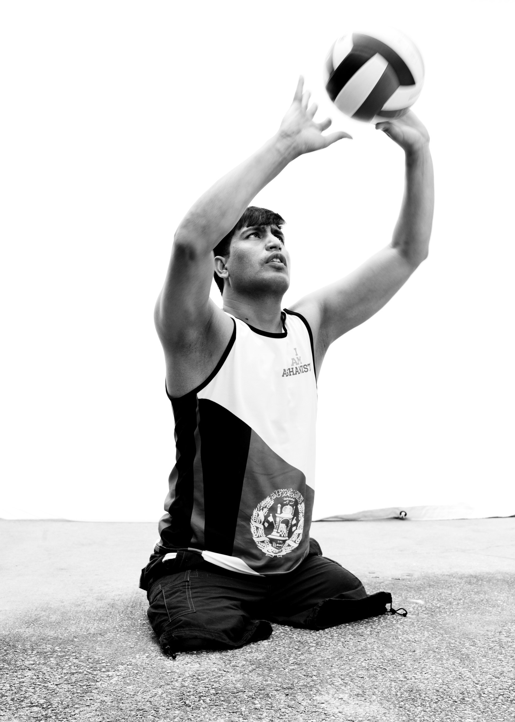 Nader Halimi, Afghanistan, competed in volleyball and rowing