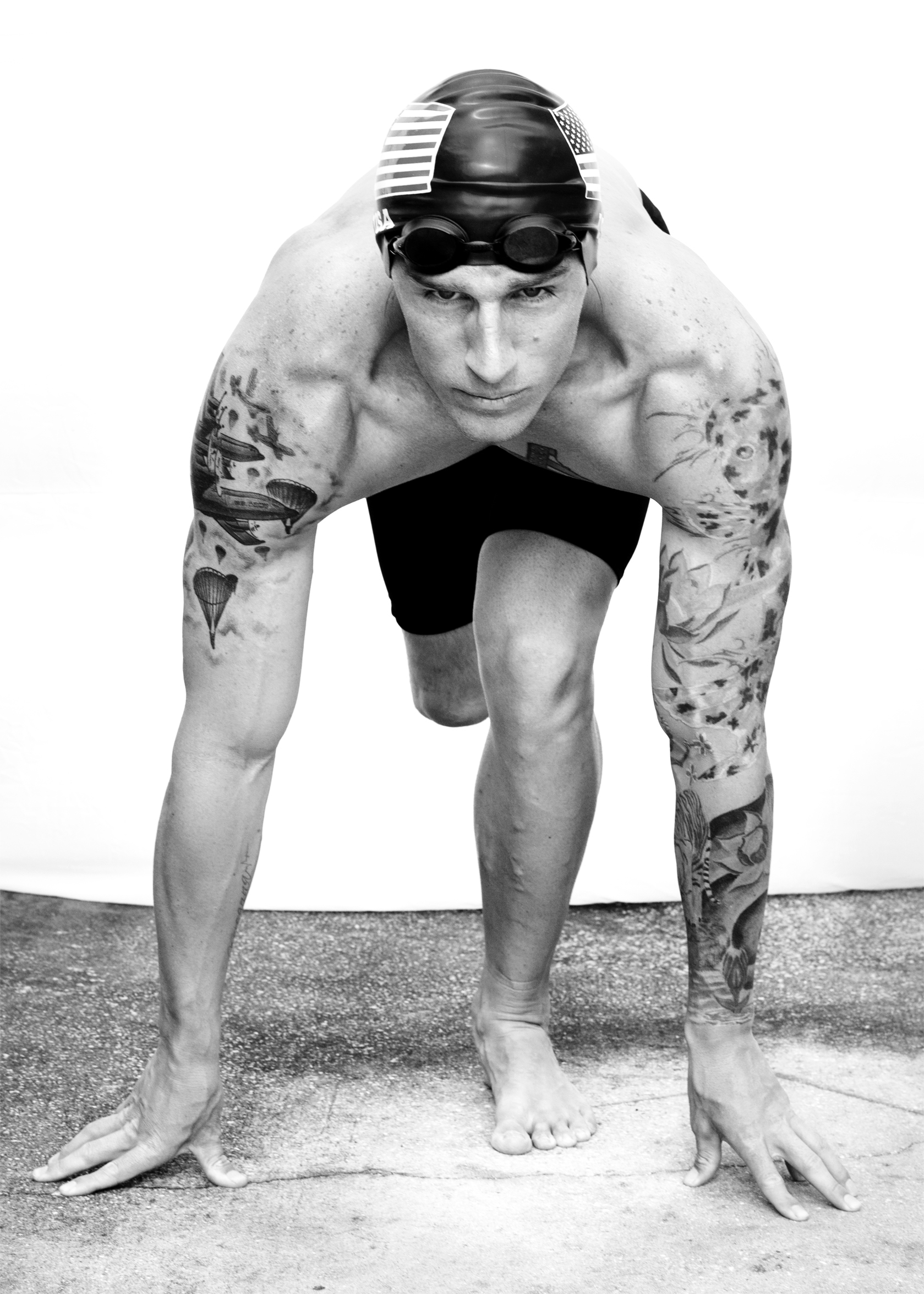 Allan Armstrong, USA, competed in cycling, swimming and track