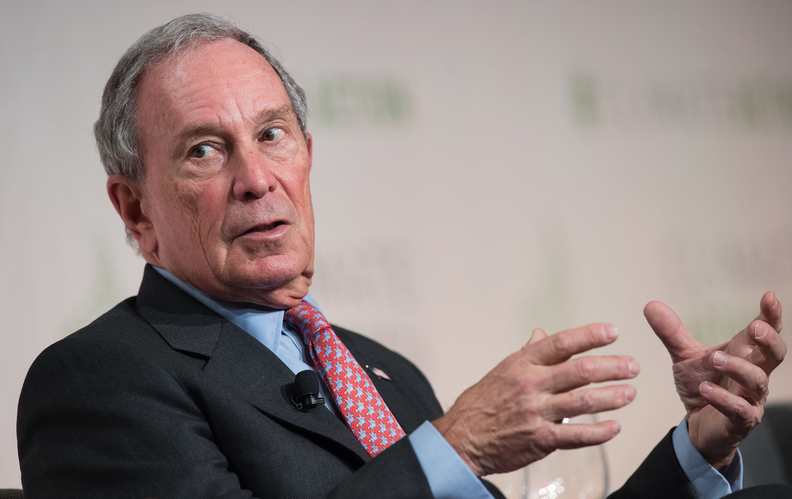Michael Bloomberg participates in a discussion at the Climate Action 2016 conference in Washington, DC, on May 5, 2016.
