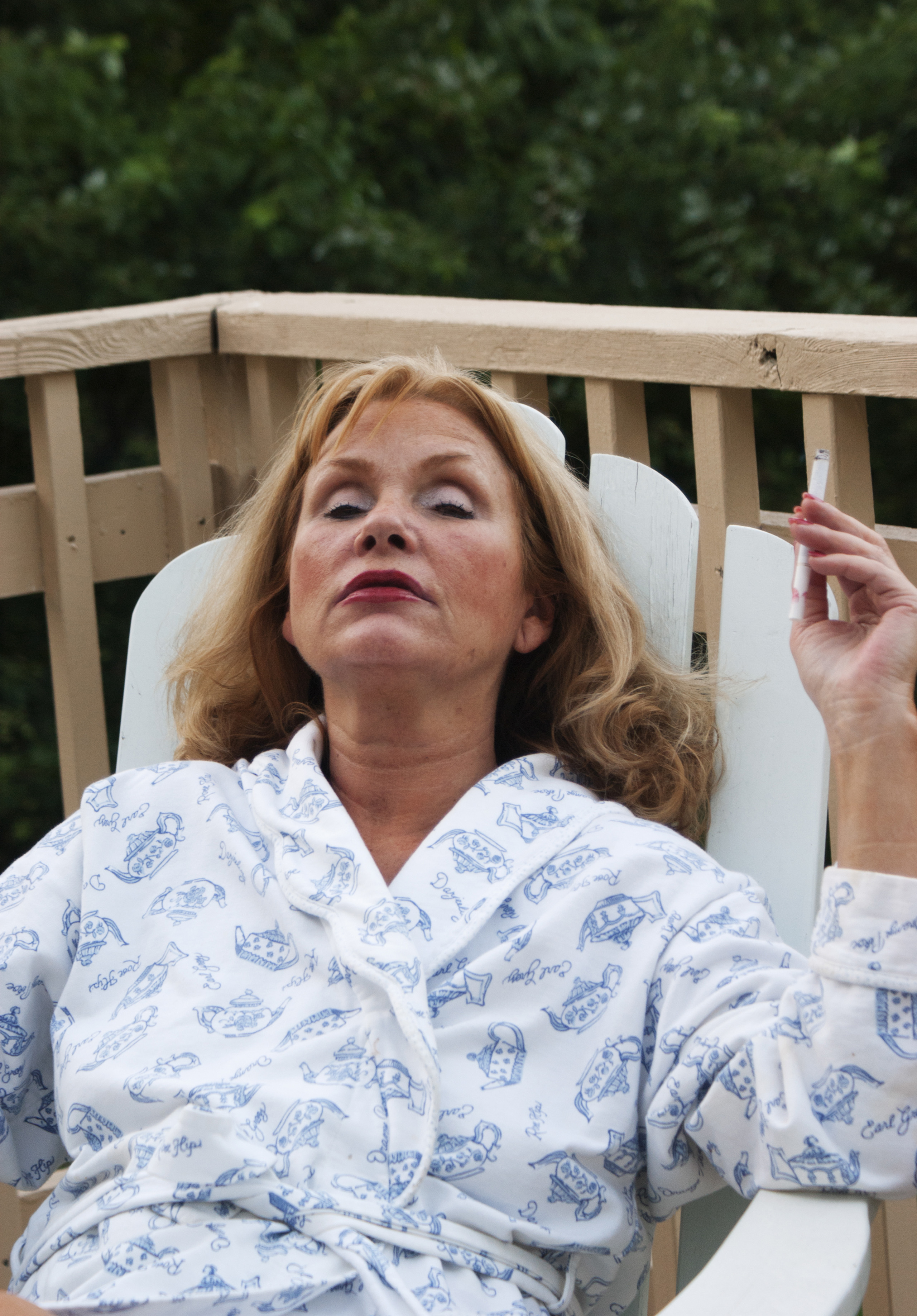 Mom Smoking After Work, 2010. from the series You Have Nothing to Worry About