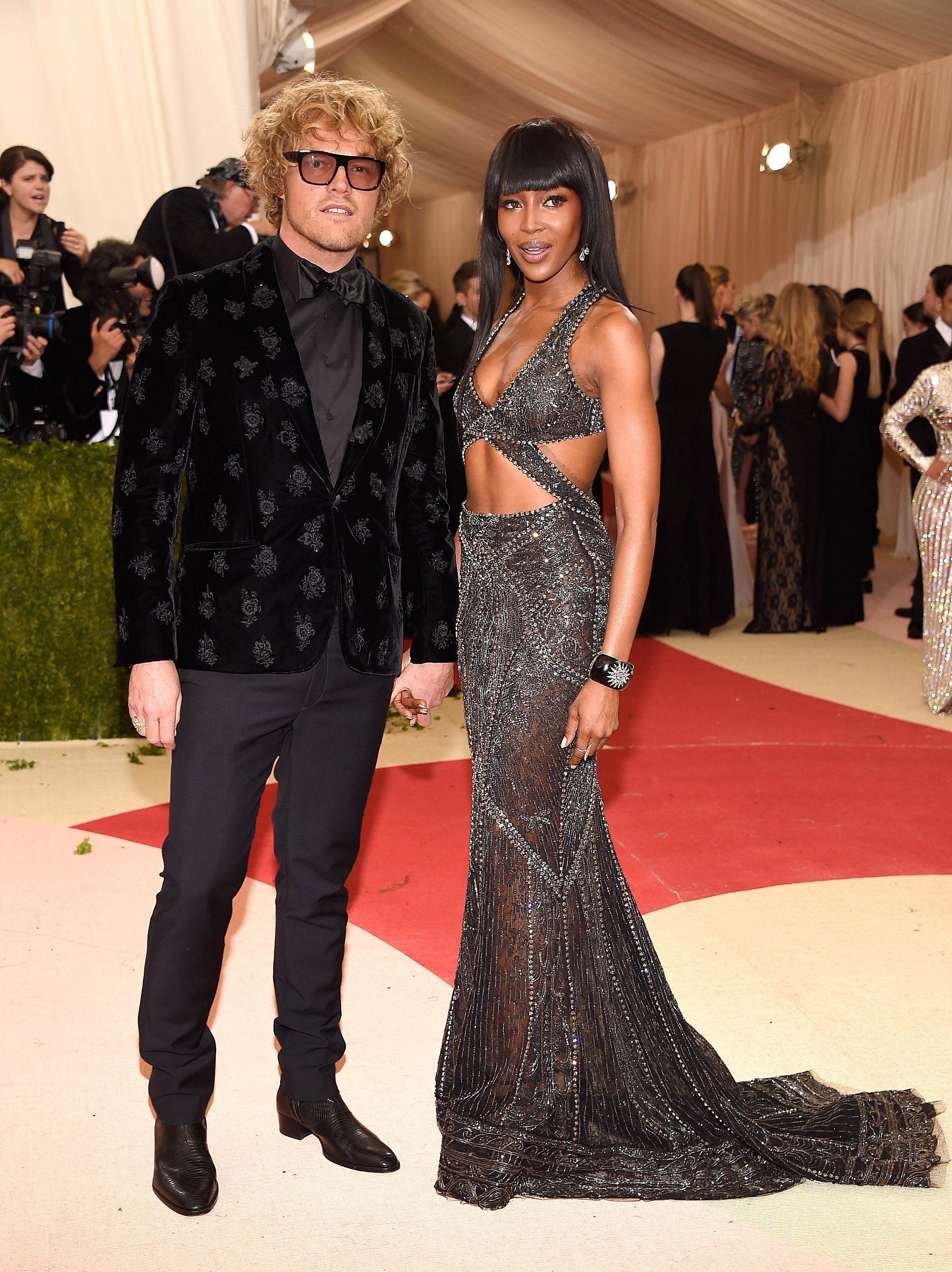 Peter Dundas and Naomi Campbell attend  Manus x Machina: Fashion In An Age Of Technology  Costume Institute Gala at Metropolitan Museum of Art on May 2, 2016 in New York City.