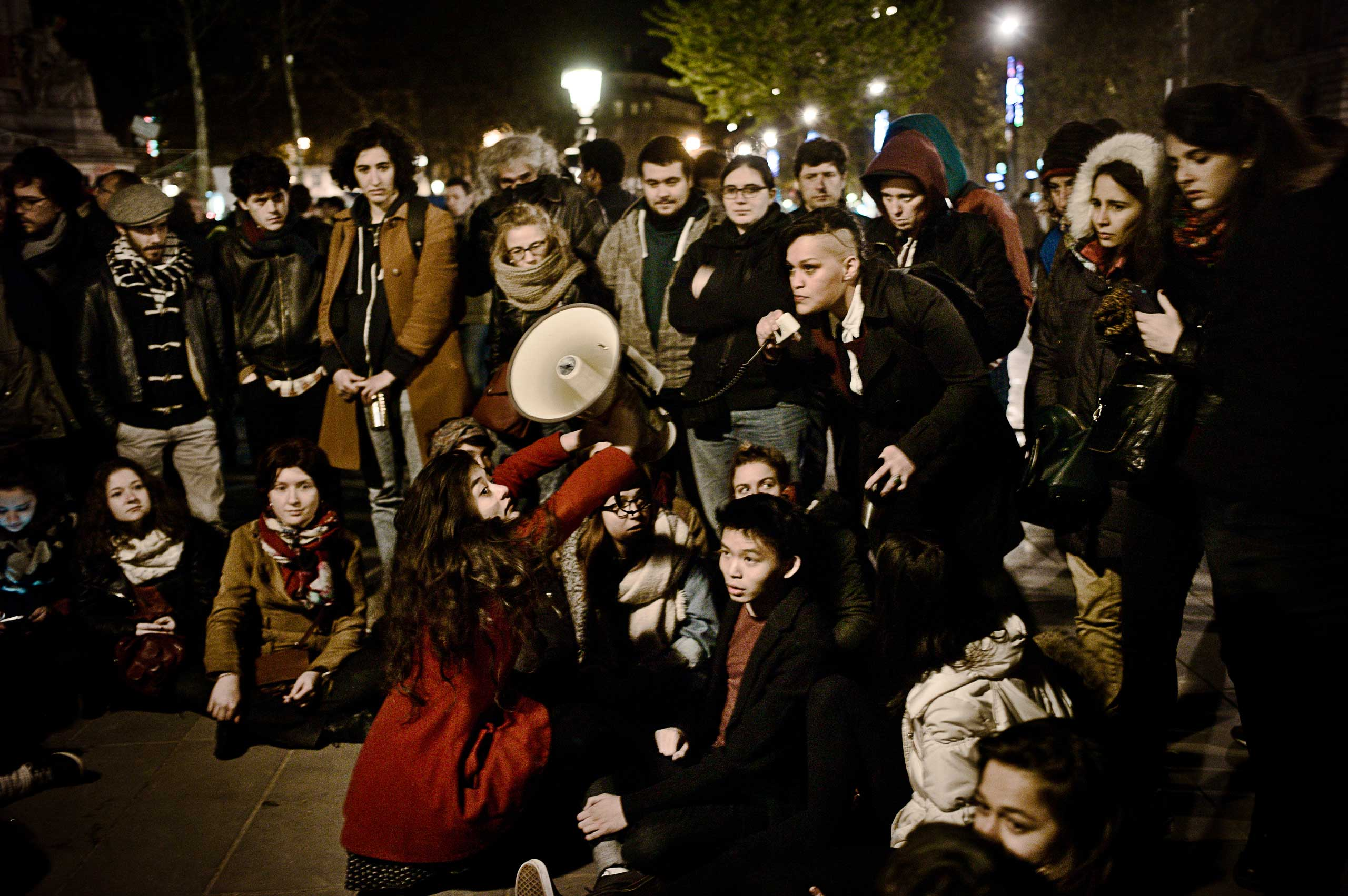 The Commission of LGBT (Lesbian, Gay, Bisexual & Transgender) at the Nuit Debout.