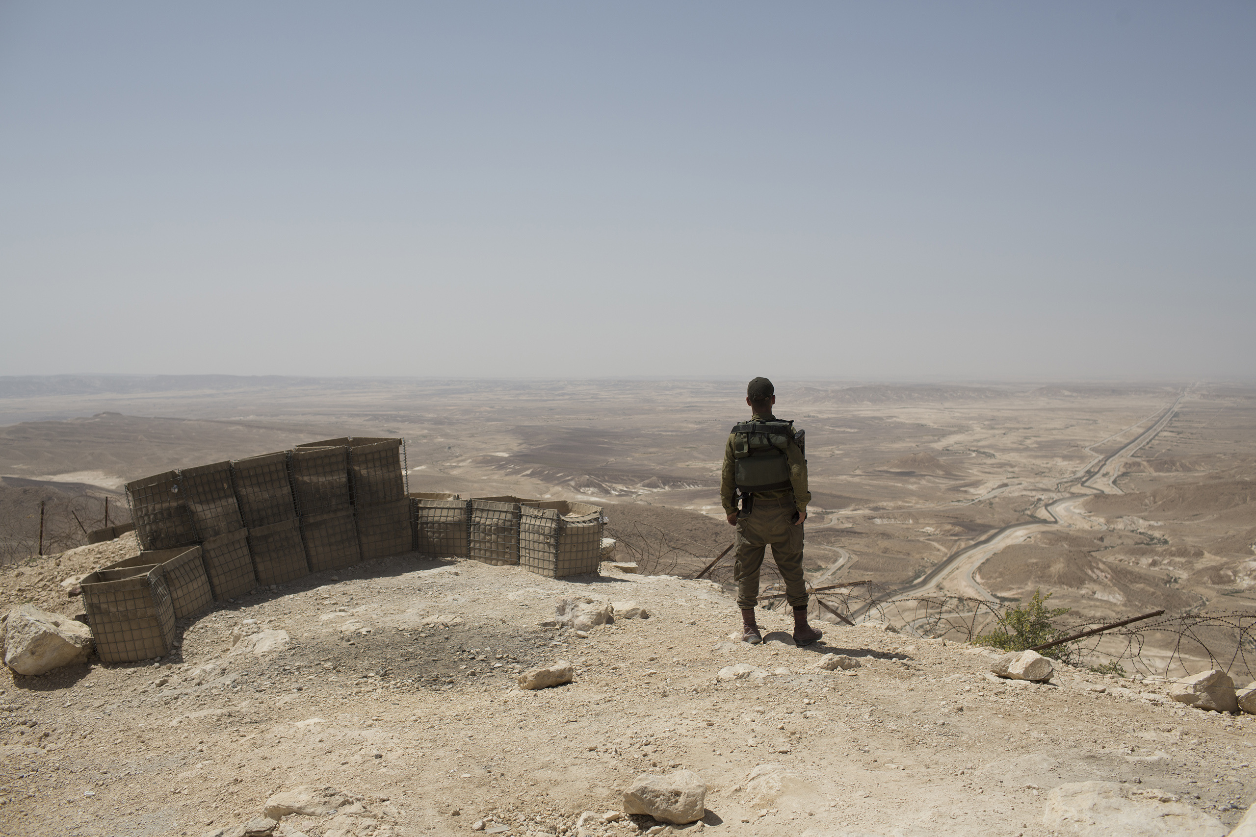 A general view of the Israeli-Egyptian border, as seen from an IDF base in southern Israel, May 2, 2016.