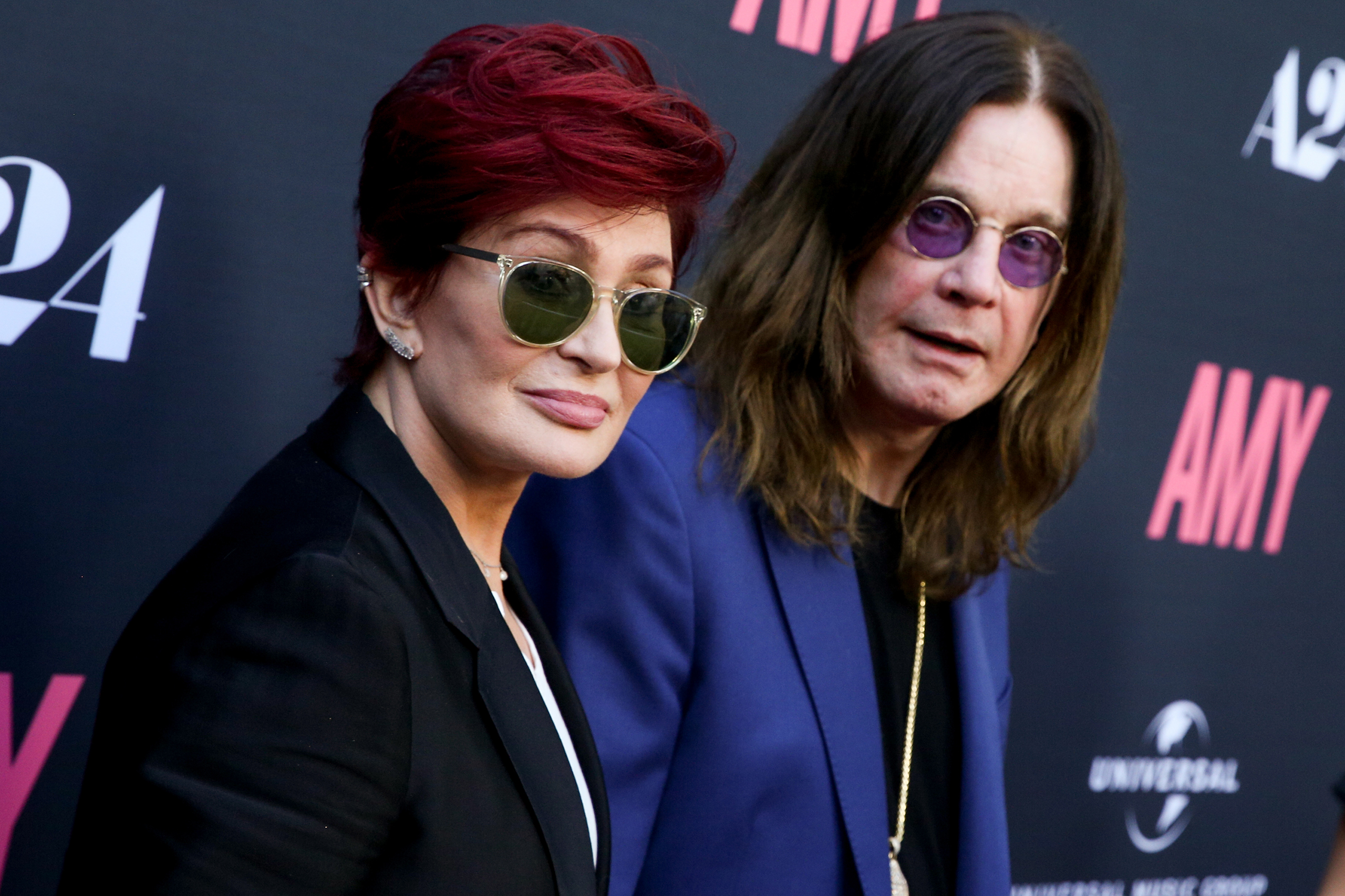 Sharon Osbourne, left, and Ozzy Osbourne arrive at the LA Premiere of  Amy  in Los Angeles,  June 25, 2015.