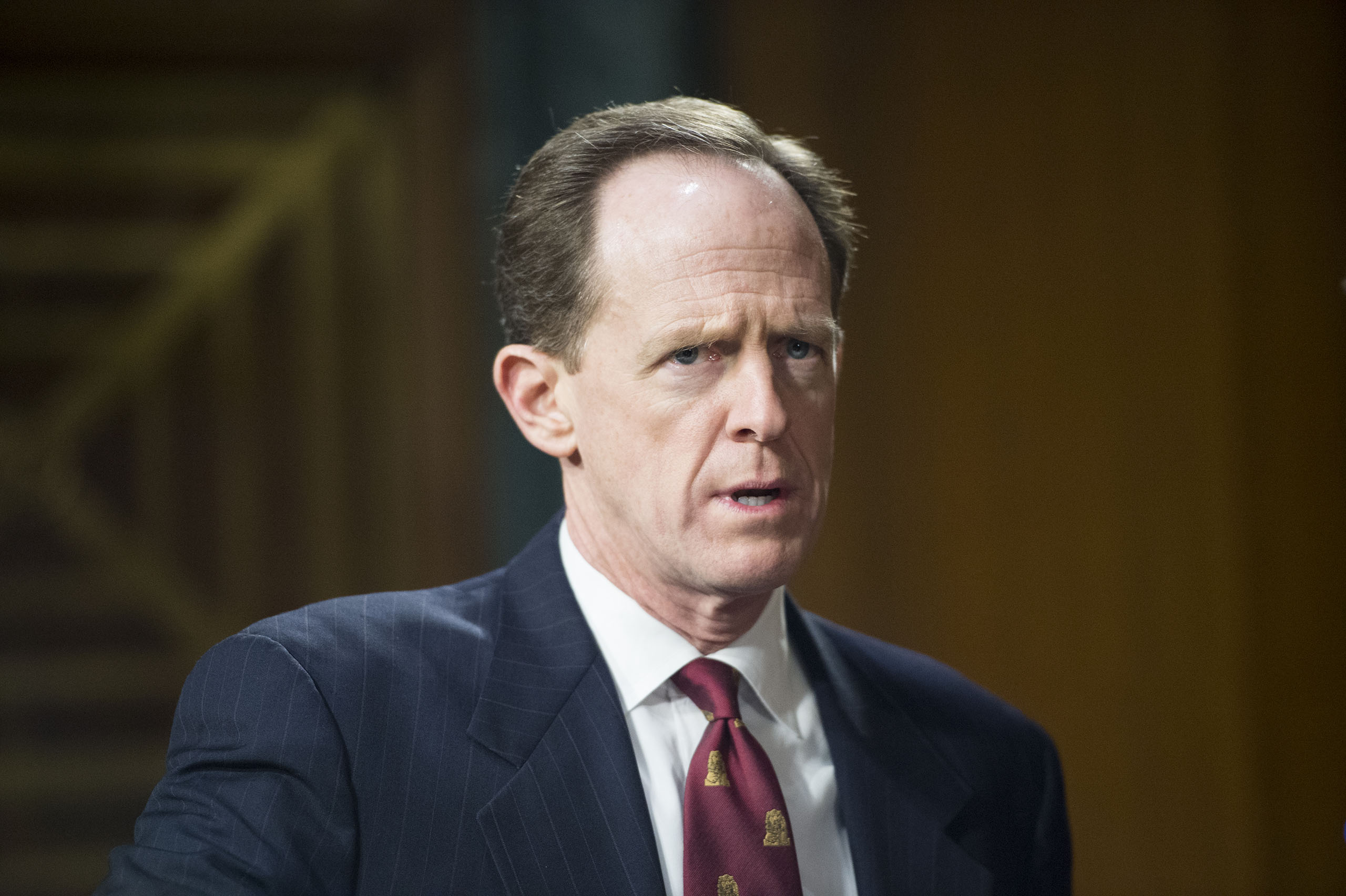 Pat Toomey arrives for the Senate Banking, Housing and Urban Affairs Committee hearing on  The Semiannual Monetary Policy Report to the Congress  on Feb. 24, 2015.