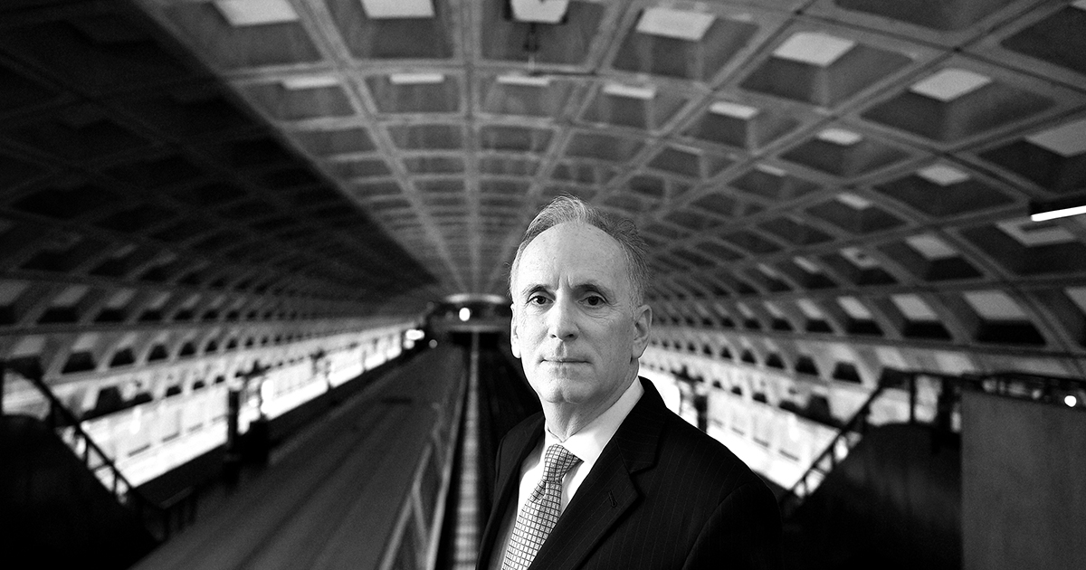 WASHINGTON, DC - NOVEMBER 17: Paul J. Wiedefeld, the incoming general manager of Metro, poses for portrait photographs at the Judiciary Metro stop in Washington, D.C., November 17, 2015. Wiedefeld was recently the CEO of the Baltimore/Washington International Thurgood Marshall Airport. (Photo by Astrid Riecken For The Washington Post via Getty Images)