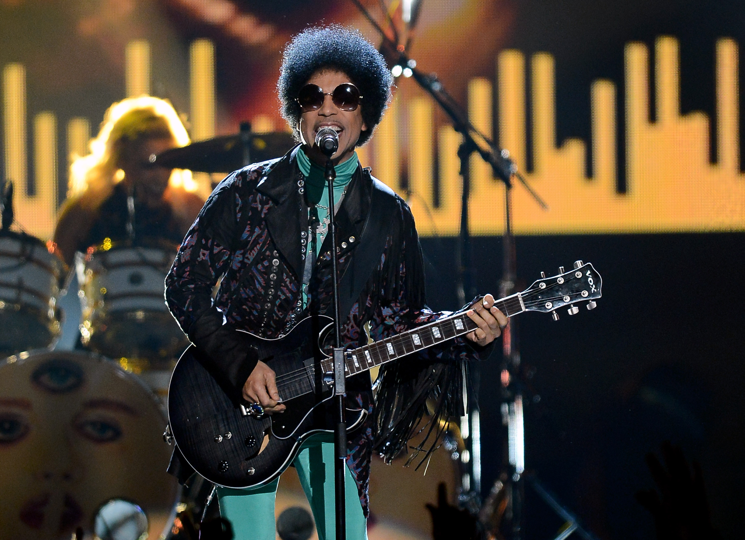 Prince performs in Las Vegas, on May 19, 2013.