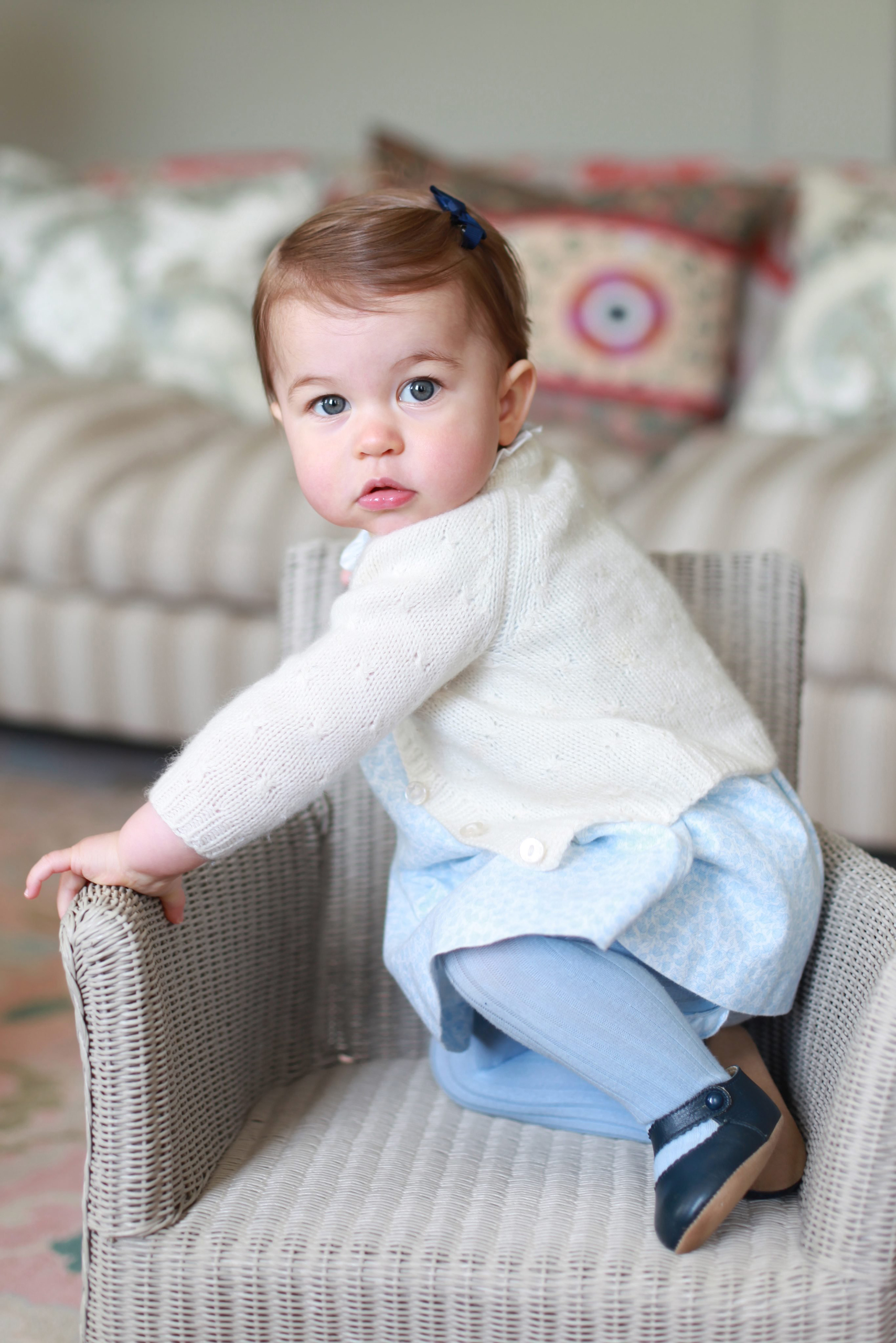 Princess Charlotte at Anmer Hall in Norfolk, U.K., in a photo made available by the Duke and Duchess of Cambridge on May 1, 2016.