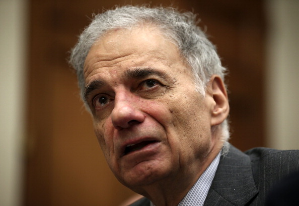 Former U.S. presidential candidate Ralph Nader speaks during a discussion June 28, 2013 on Capitol Hill.