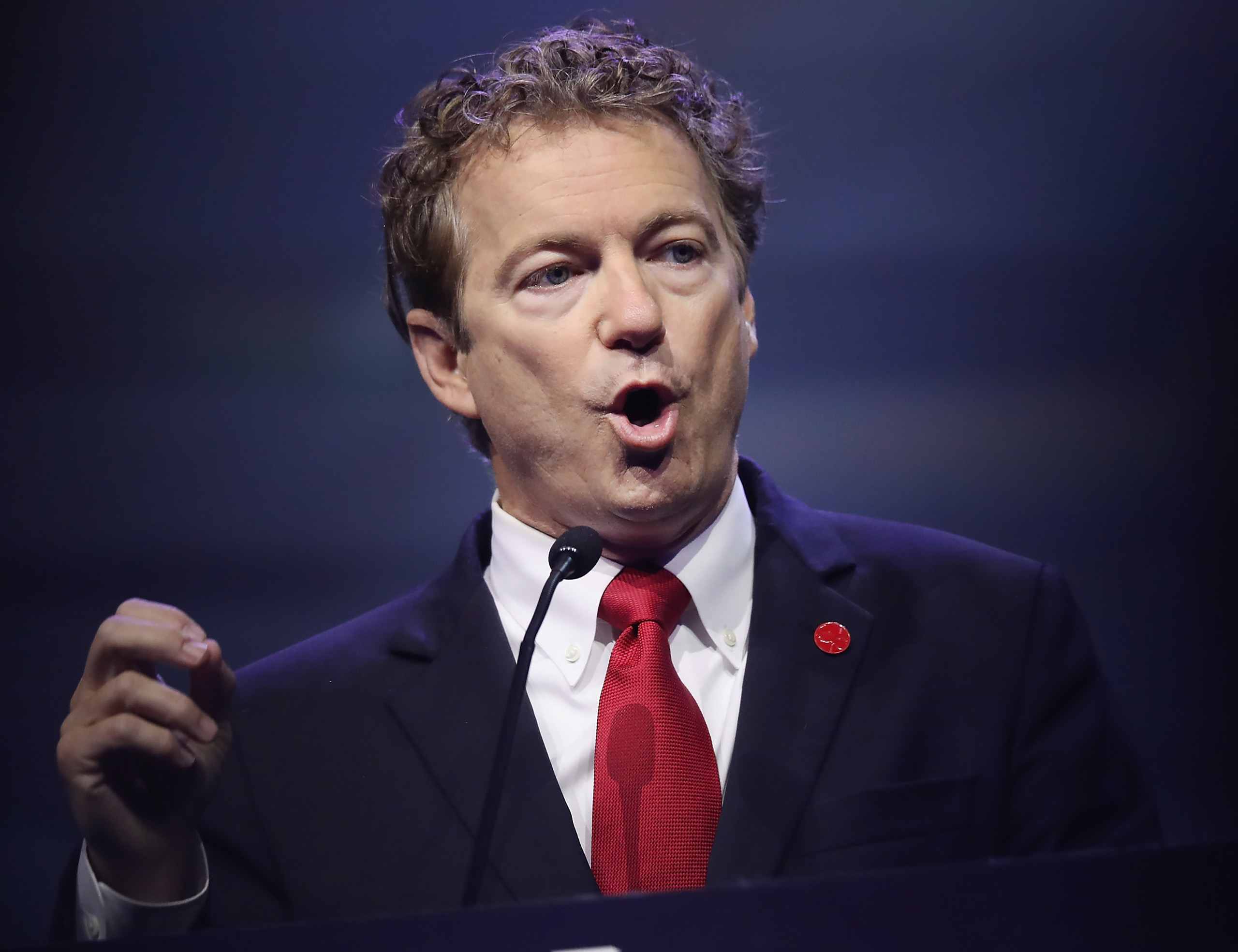 Sen. Rand Paul speaks at the National Rifle Association's NRA-ILA Leadership Forum during the NRA Convention at the Kentucky Exposition Center in Louisville, Kentucky on May 20, 2016.