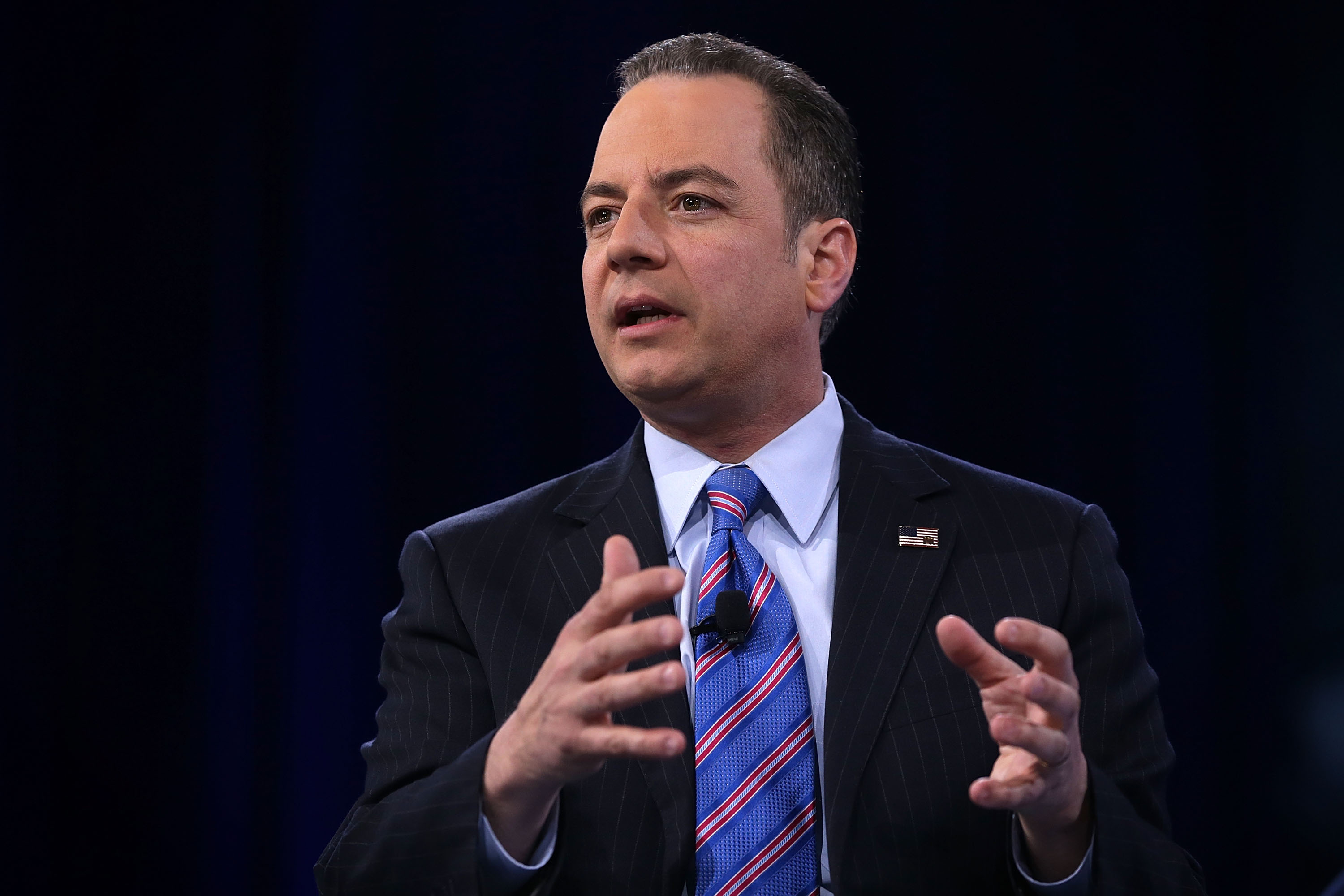 Chairman of the Republican National Committee Reince Priebus on March 4, 2016 in National Harbor, Md.
