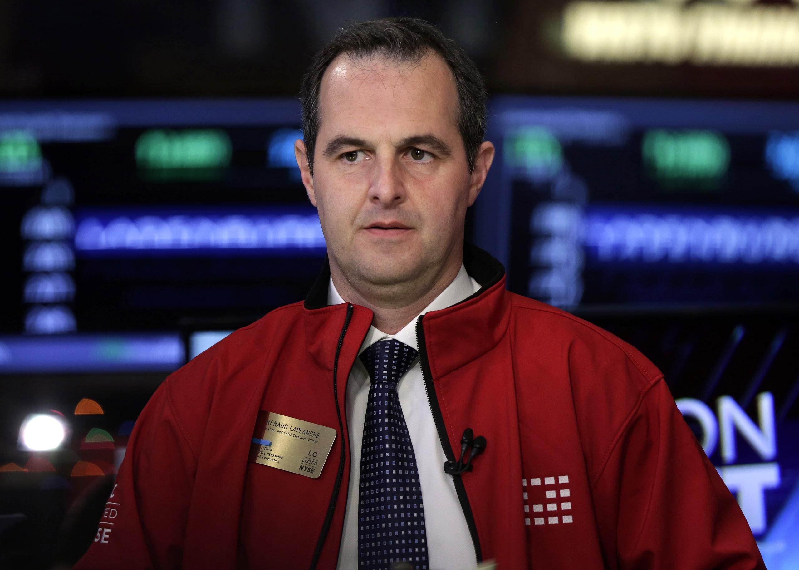 Renaud Laplanche on the floor of the New York Stock Exchange, Dec. 11, 2014.