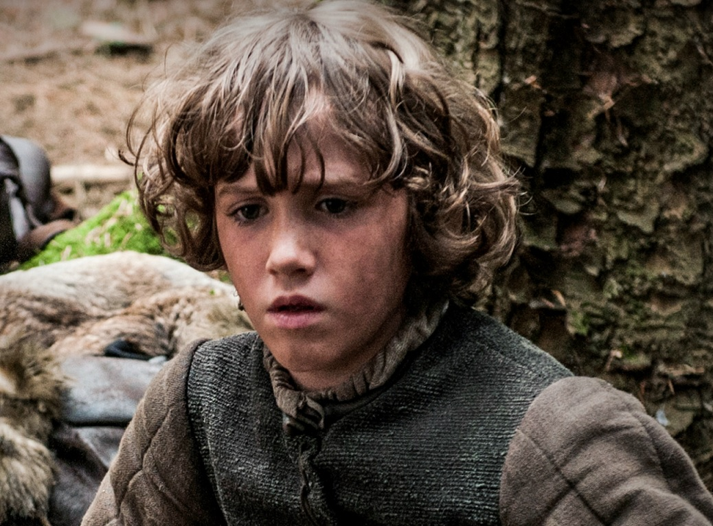 Art Parkinson as Rick Stark in Season 1 of Game of Thrones