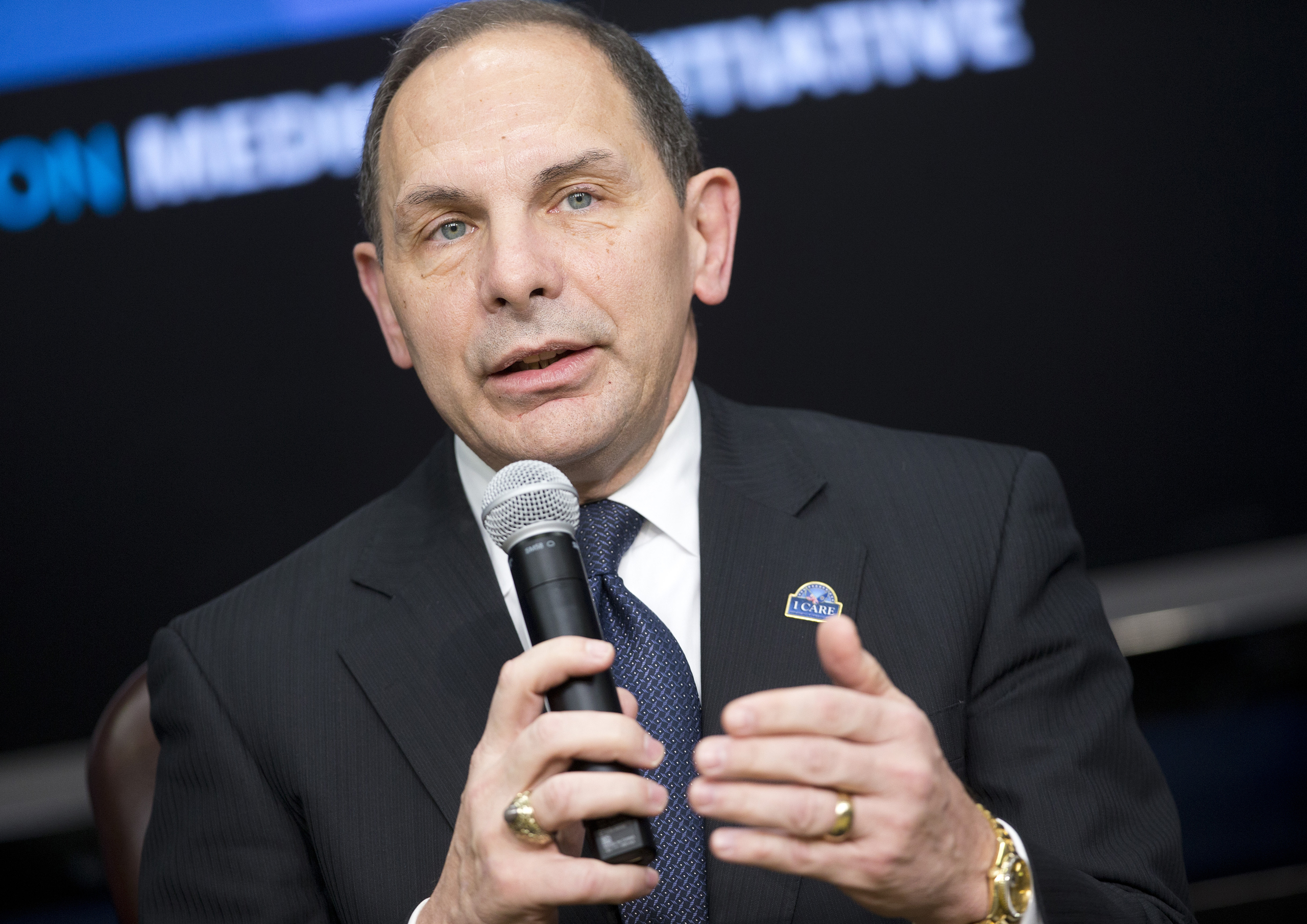 Veterans Affairs Secretary Robert McDonald during a panel discussion as part of the White House Precision Medicine Initiative (PMI)  at the White House in Washingto on Feb. 25, 2016