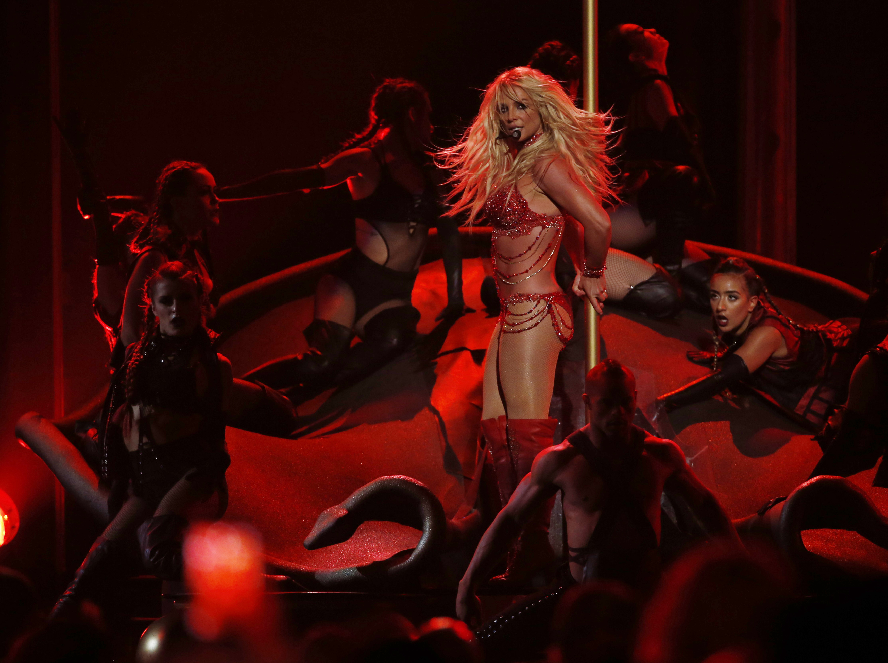 Millennium Award recipient Britney Spears performs a medley of songs at the 2016 Billboard Awards in Las Vegas, Nevada, U.S., May 22, 2016.