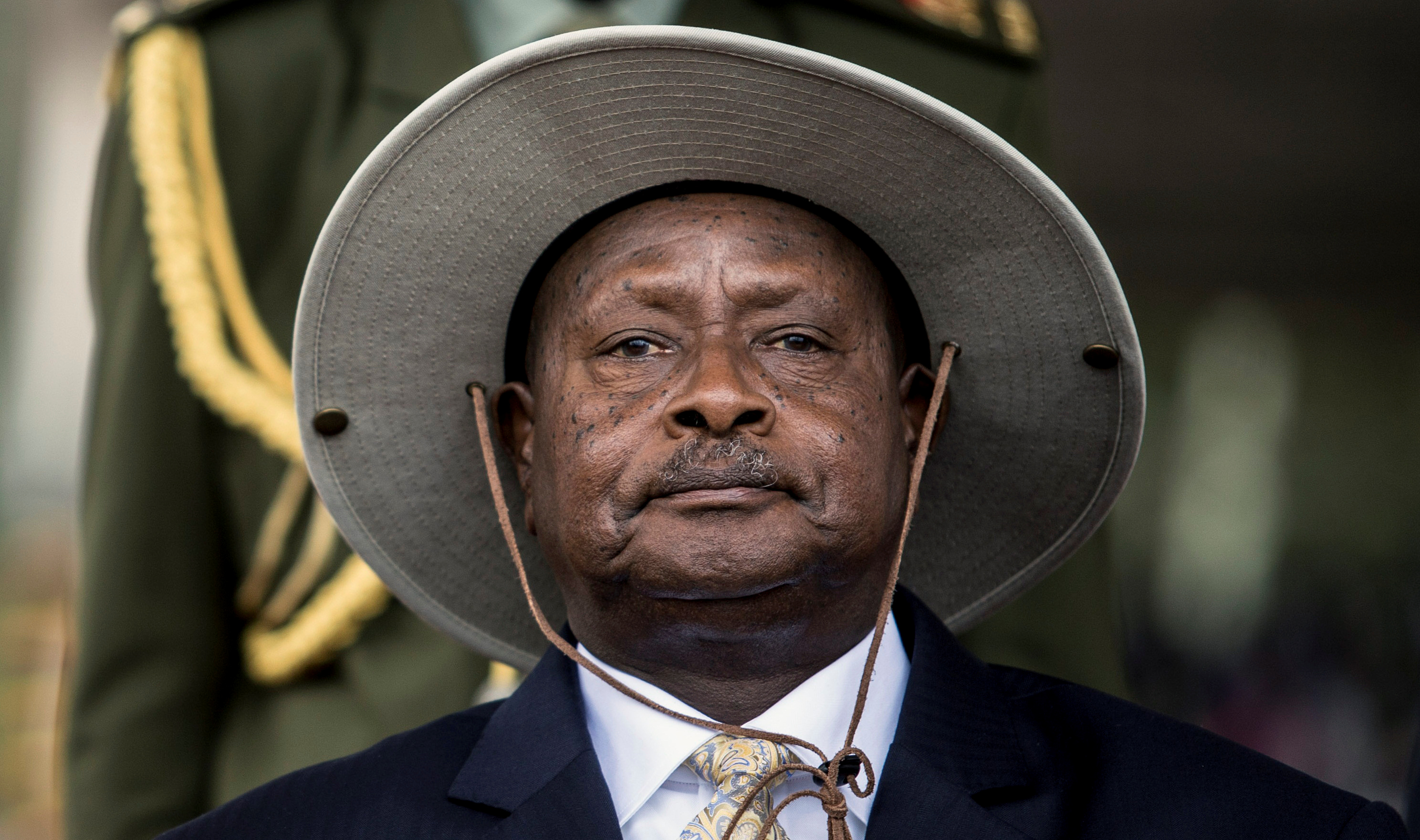Ugandan President Yoweri Museveni attends his swearing-in ceremony in Uganda's capital Kampala on May 12, 2016